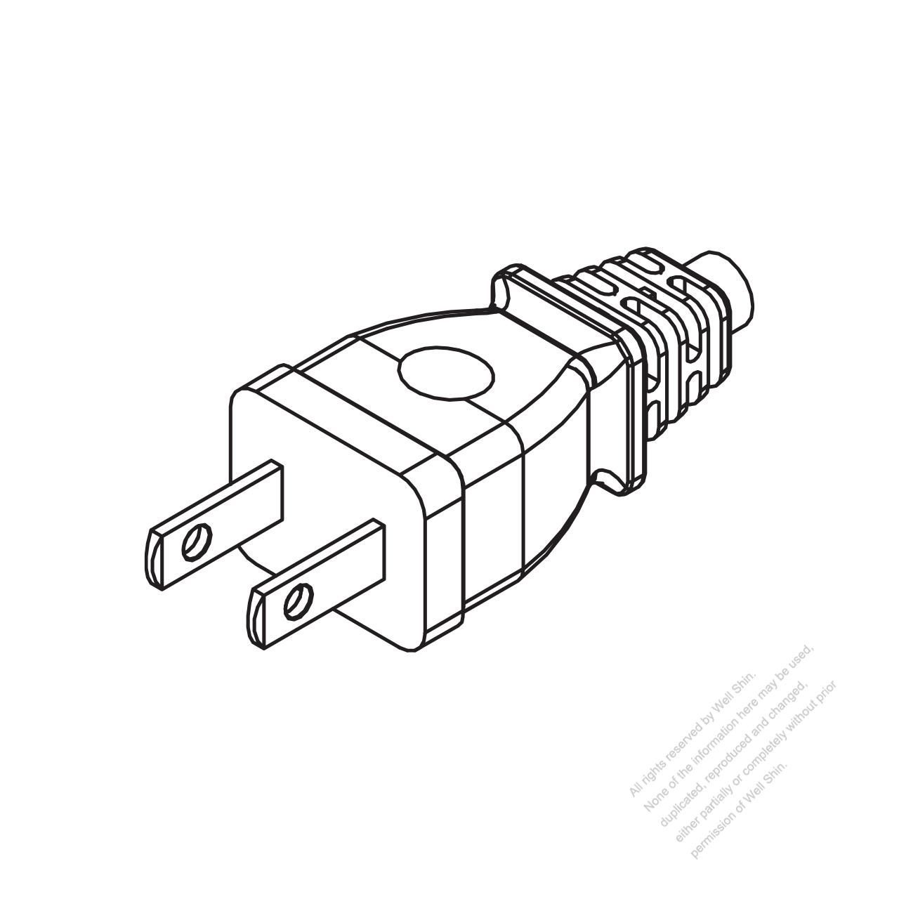 taiwan japan 2 pin 2 wire straight ac plug 2 5a 7a 9a 11a 15a 125v Electrical Connector Wiring Diagram taiwan japan 2 pin 2 wire straight ac plug 2 5a 7a