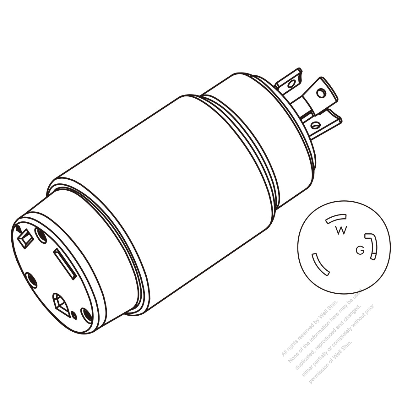 rv adapter plug  nema l5