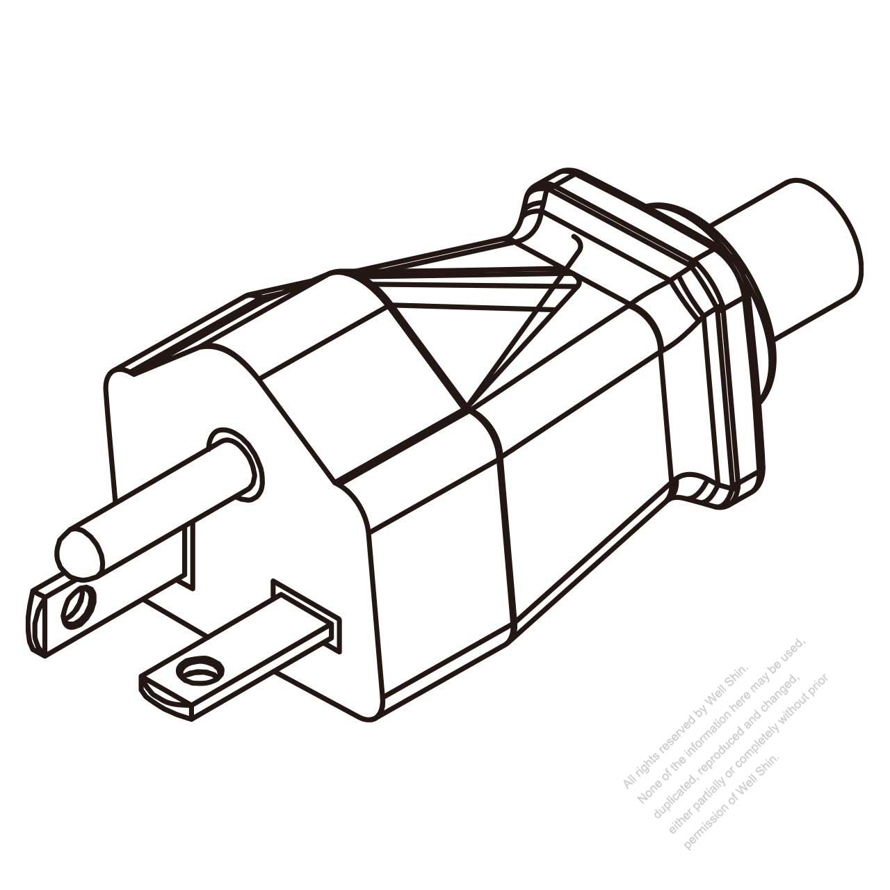 Usa Canada Nema 6 20p Straight Ac Plug 2 P 3 Wire Grounding 20a Wiring Diagram