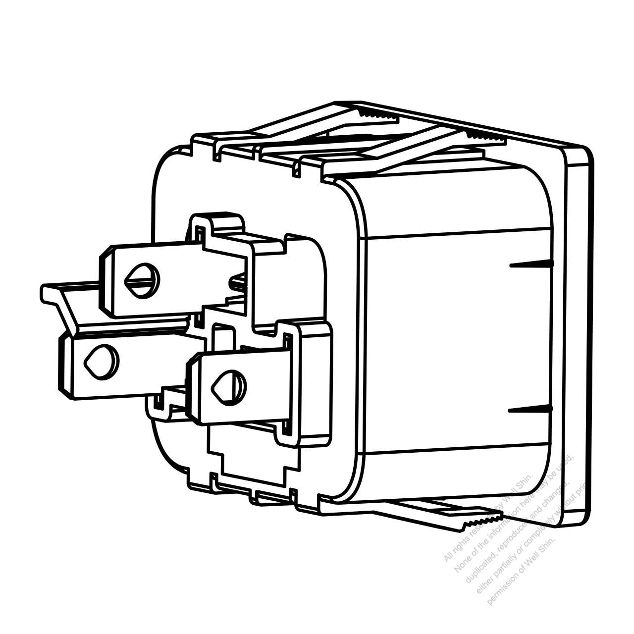 Ac Socket Iec 60320-2 Sheet J Appliance Outlet 16a  20a 250v