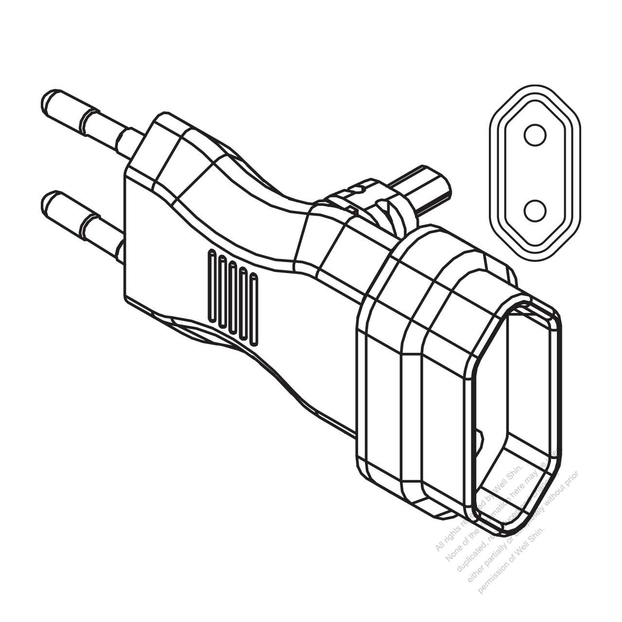 germany 2 pin t shape ac plug 2 5a 10a 250v well shin technology Steel T Shapes germany 2 pin t shape ac plug 2 5a 10a 250v