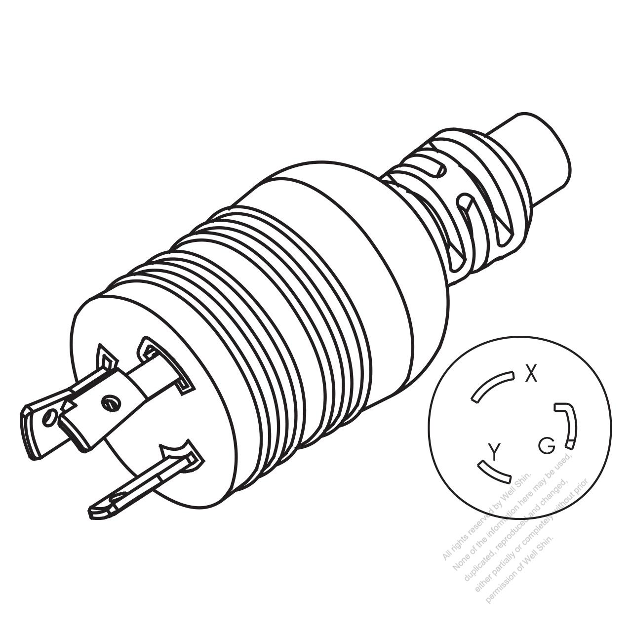 usa  canada nema l6  3 wire
