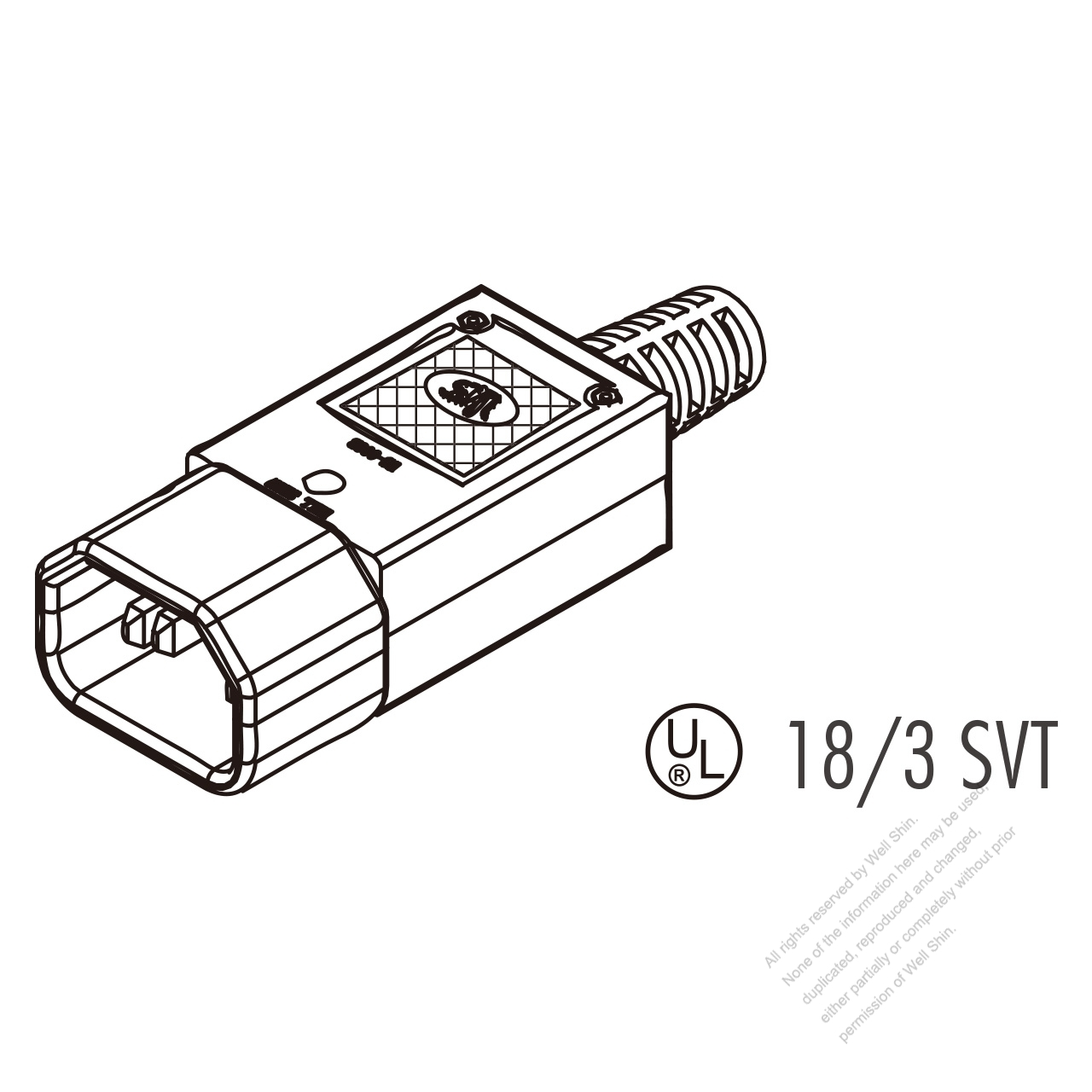 iec 320 sheet e plug connector 3-pin 10a international  15a north american household