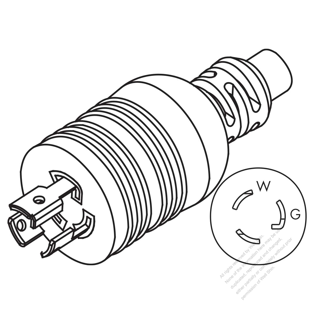 usa  canada nema l5  3 wire