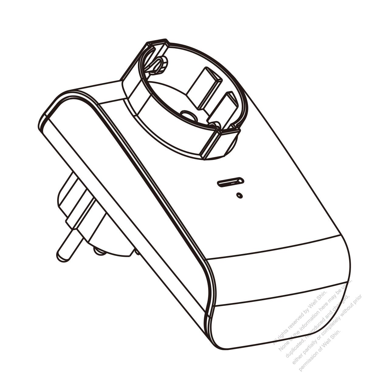 european 3-pin telecontrol plug adapter