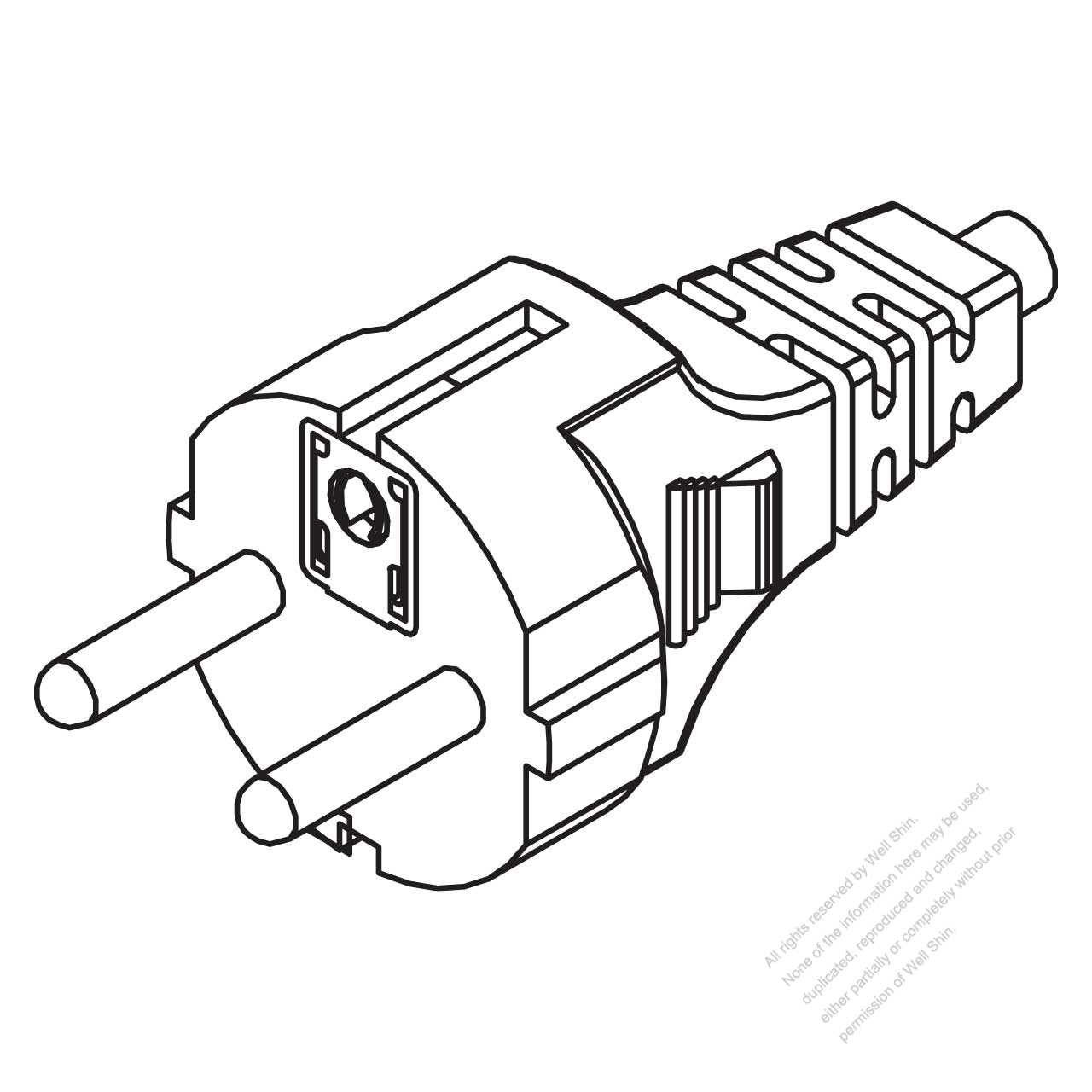 switzerland 3-pin straight ac plug  10