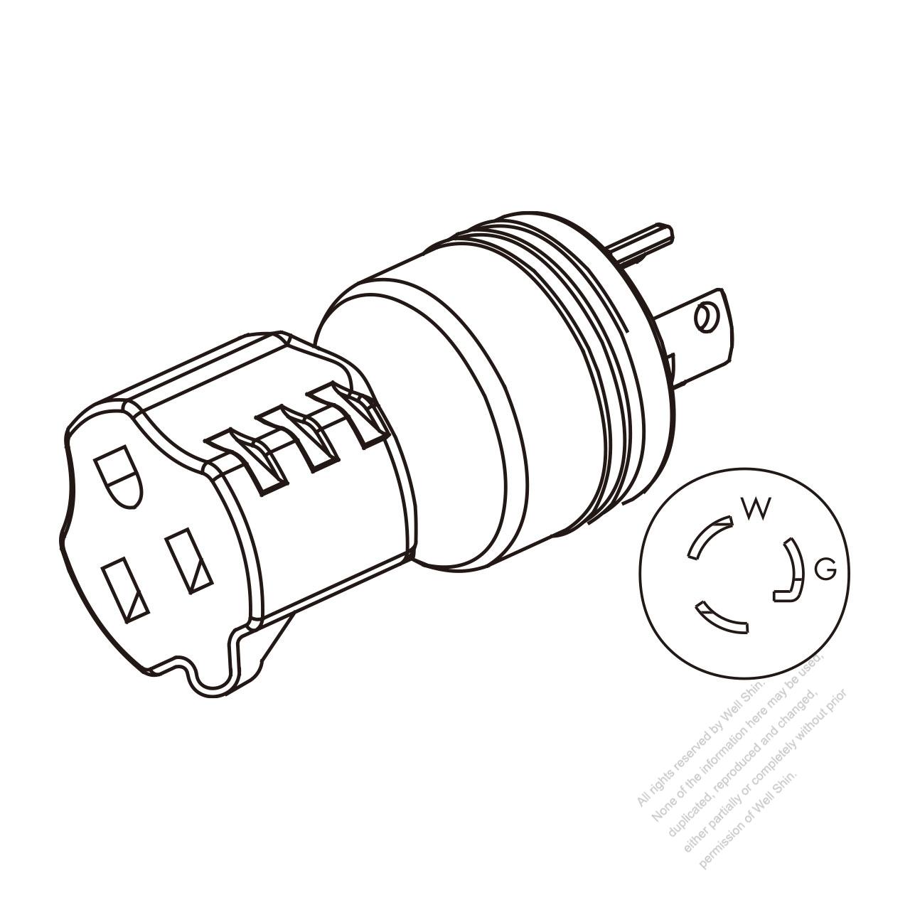 adapter plug  nema l5