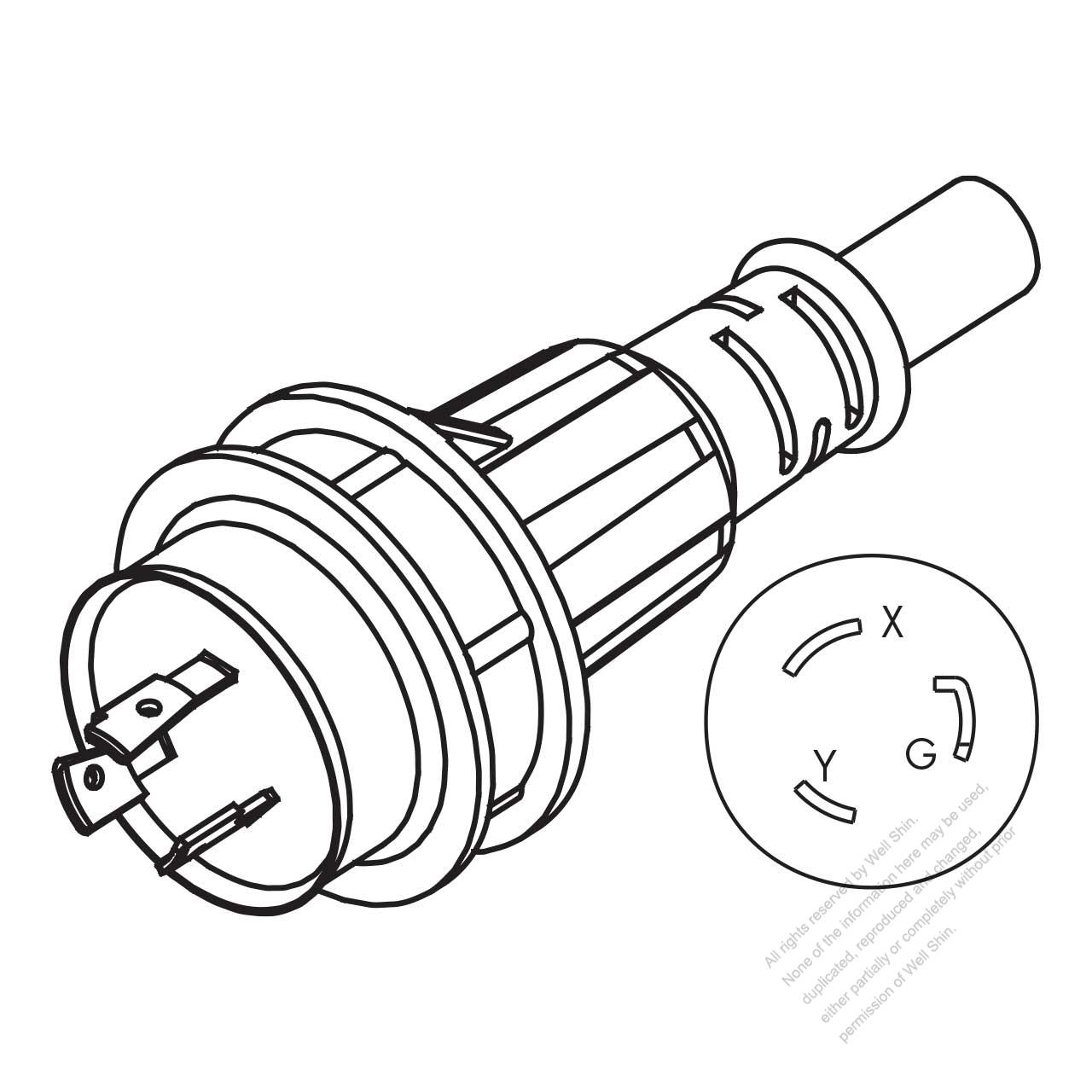 480 volt twist lock plug wiring