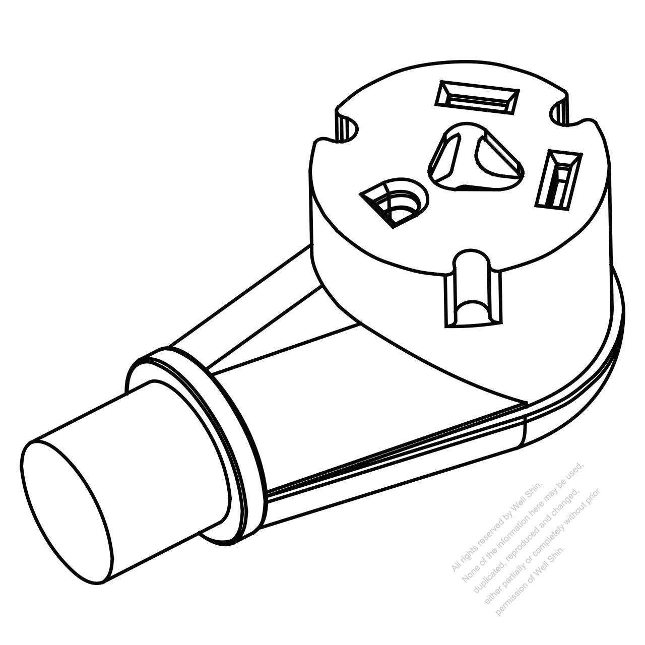 rv connector 3 pin (nema tt 30r) straight blade, 2 p, 3 wirerv connector 3 pin (nema tt 30r) straight blade, 2 p