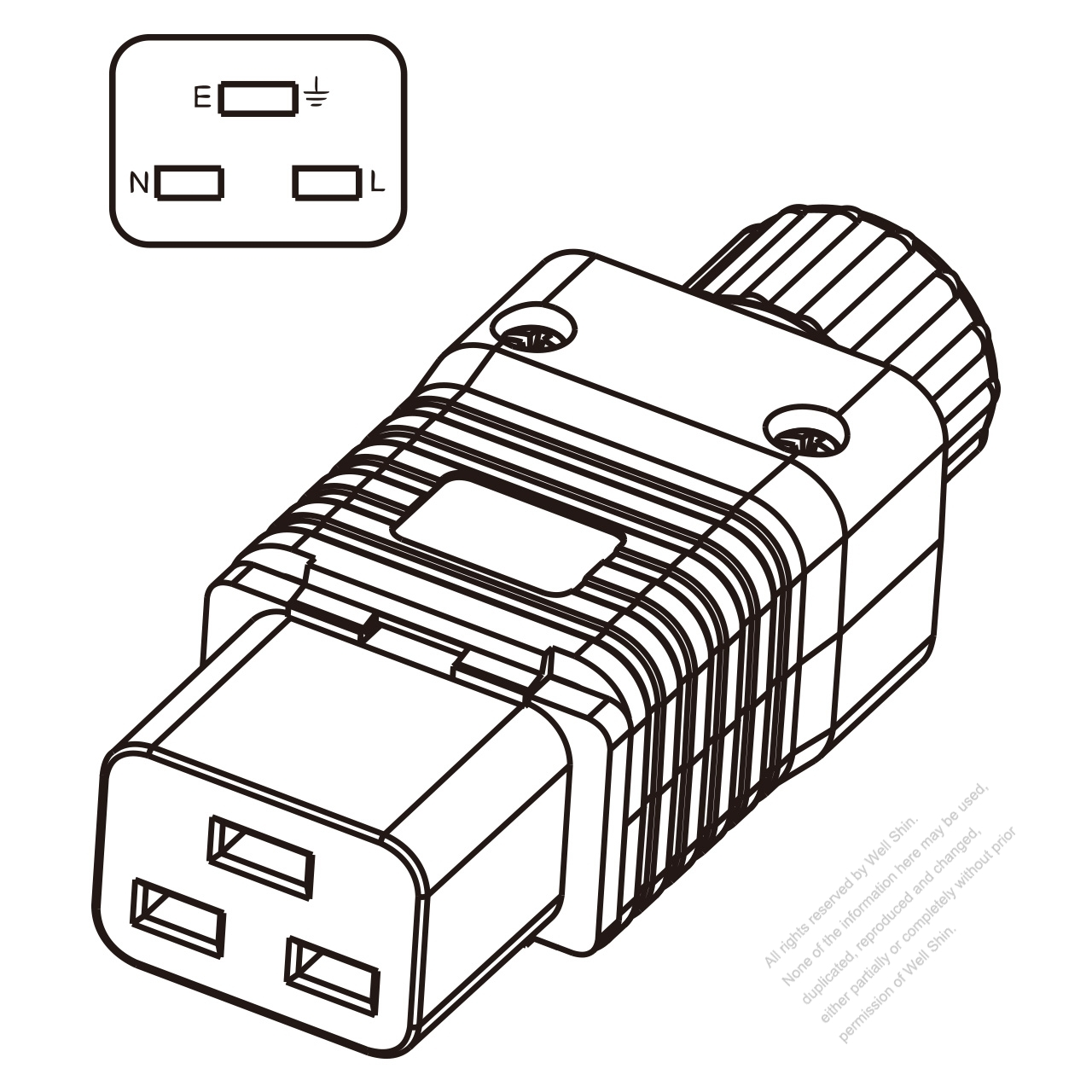 iec 320 c19 connector 3  20a north