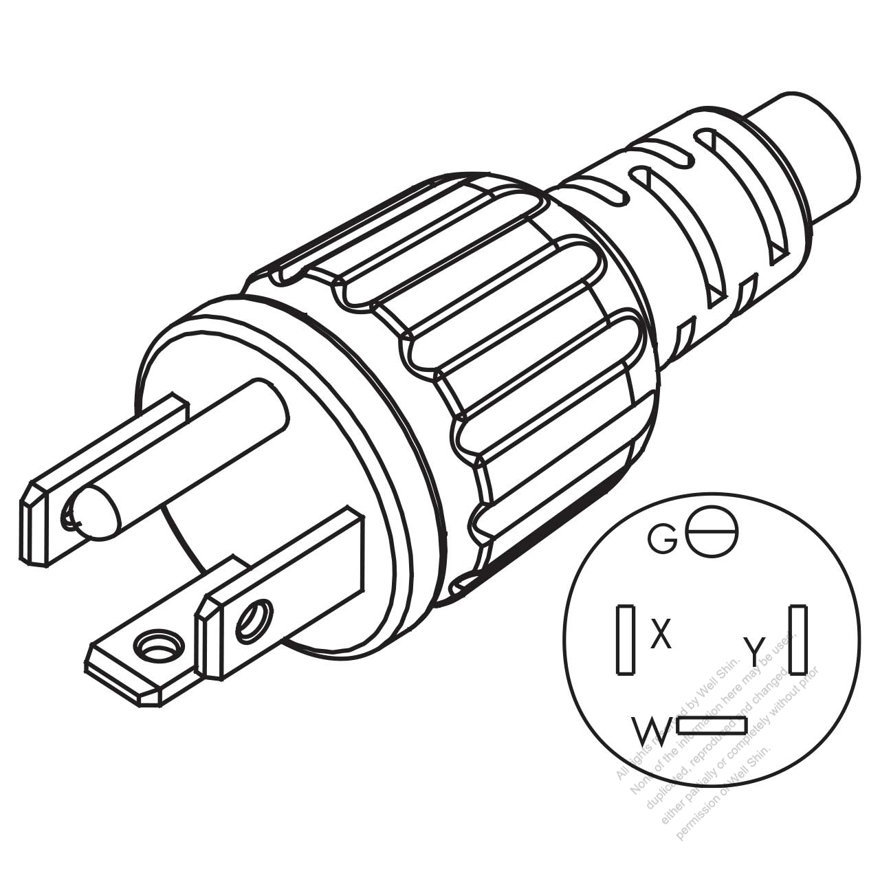 usa  canada nema 14  4 wire grounding straight ac