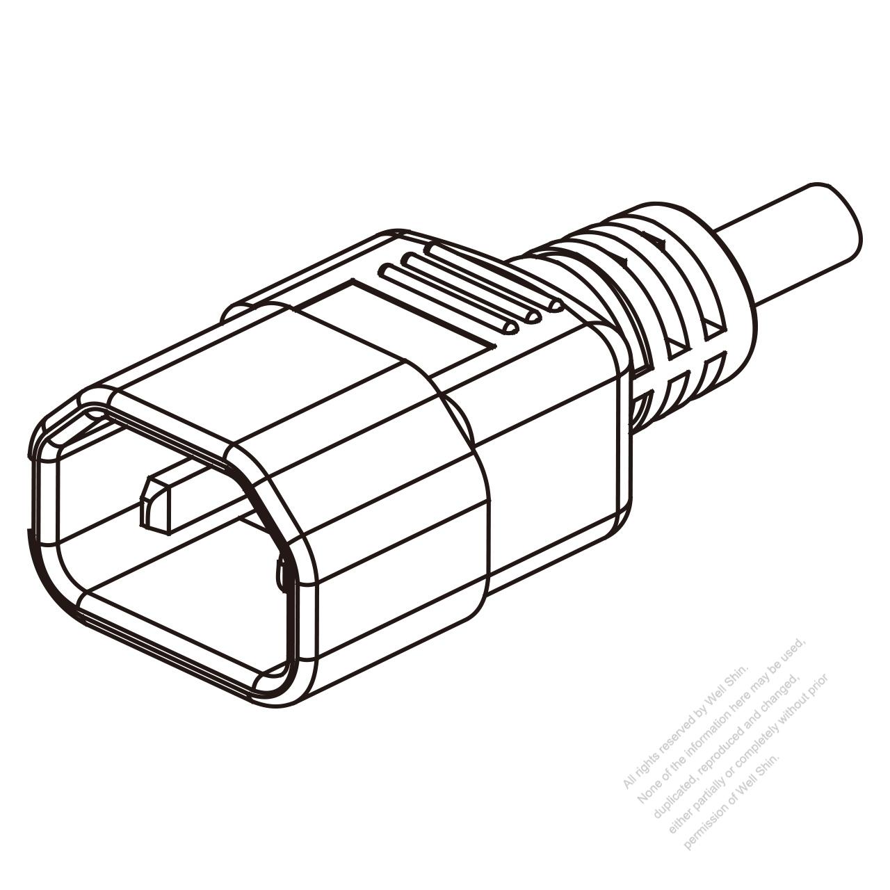 iec 320 sheet g plug connectors 3 13a  15a
