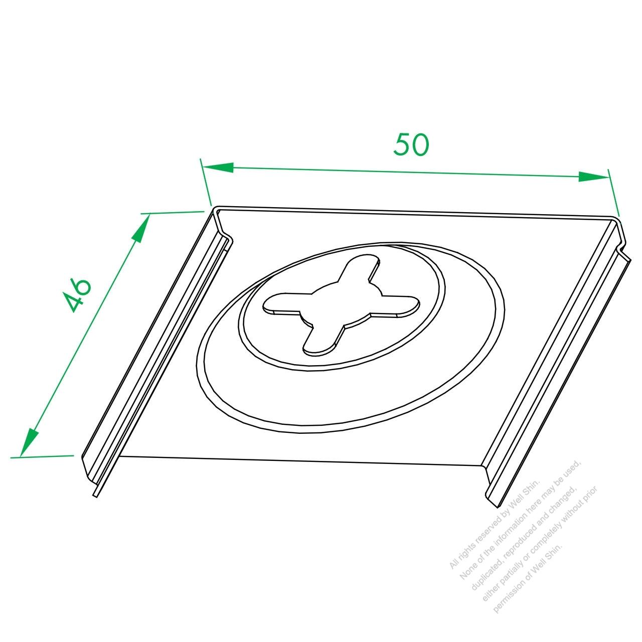 ws 280 serial wall fasten iron plate well shin technology co ltd