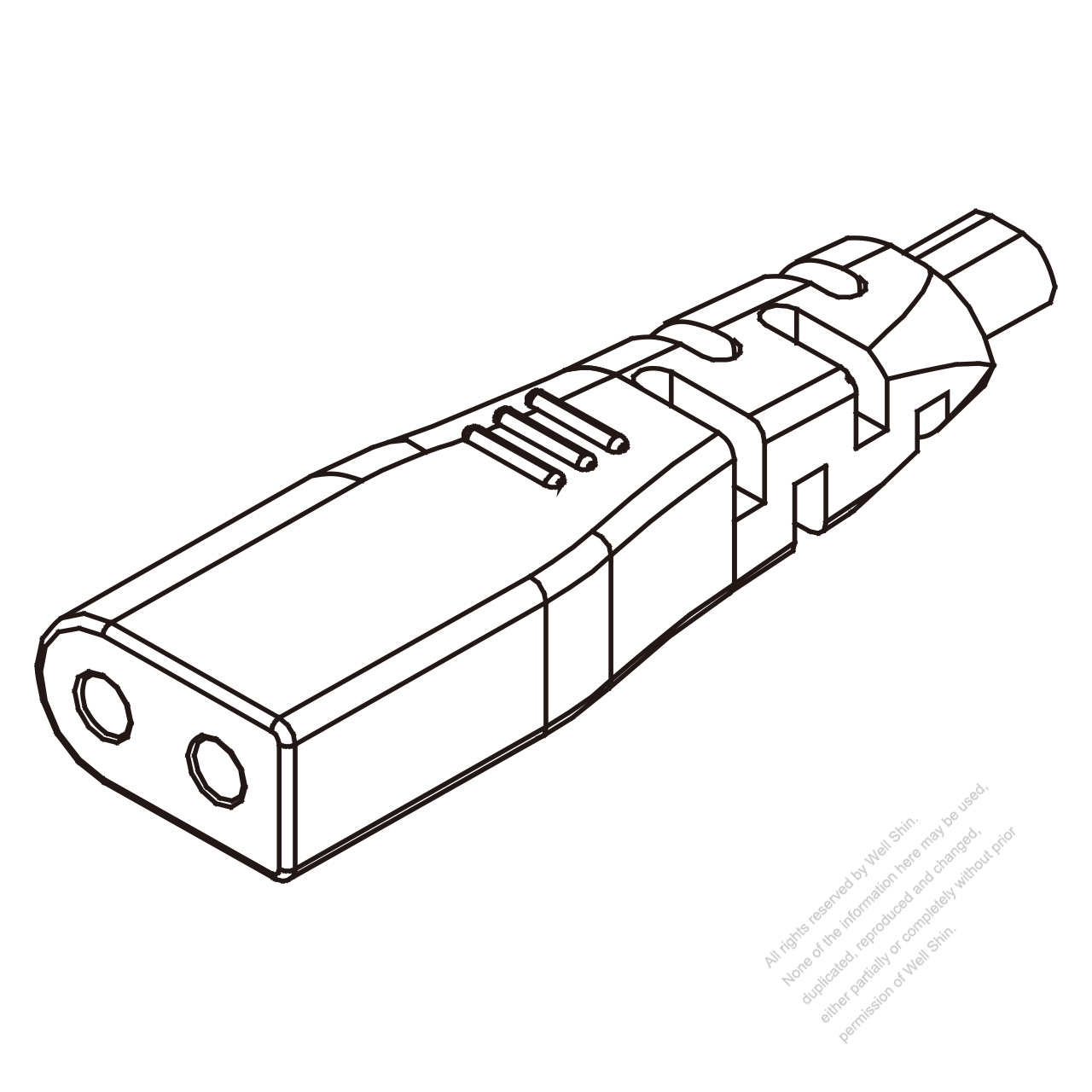 iec 320 c1 connectors 2-pin 10a 125v