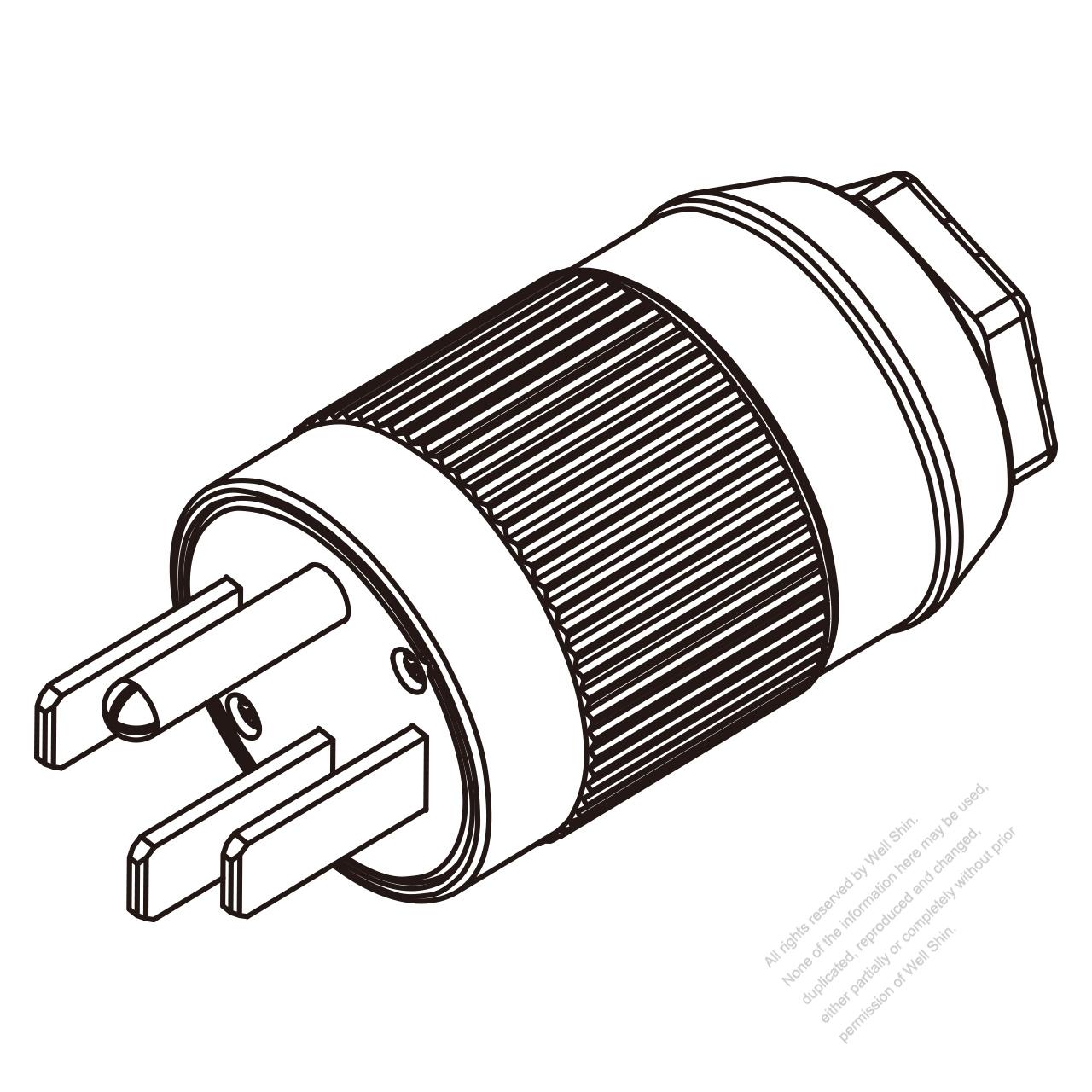 Usa Canada Plug Nema 14 50p 4 Pin 3 P 4 Wire