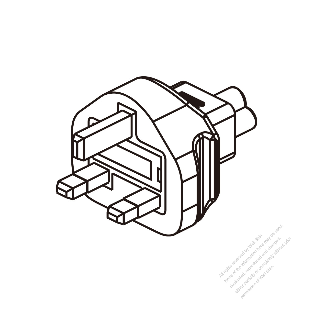 adapter plug  uk plug to iec 320 c5 female connector 3 to