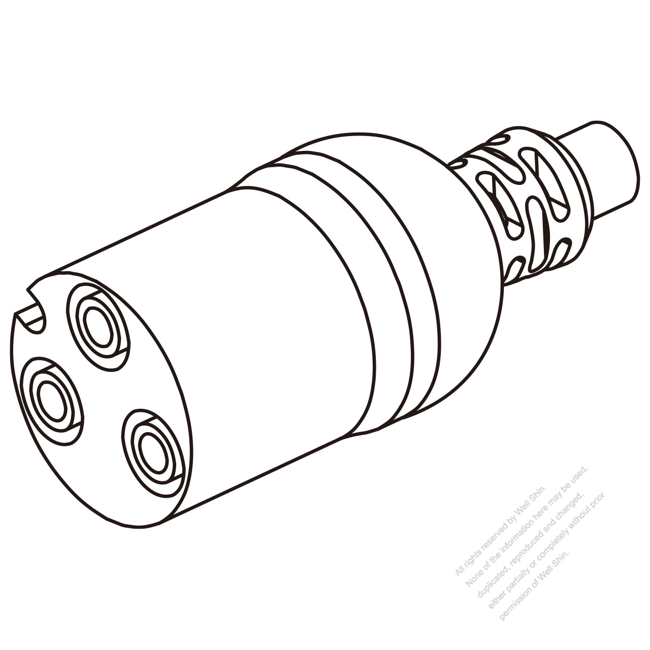45a  3-pin connector