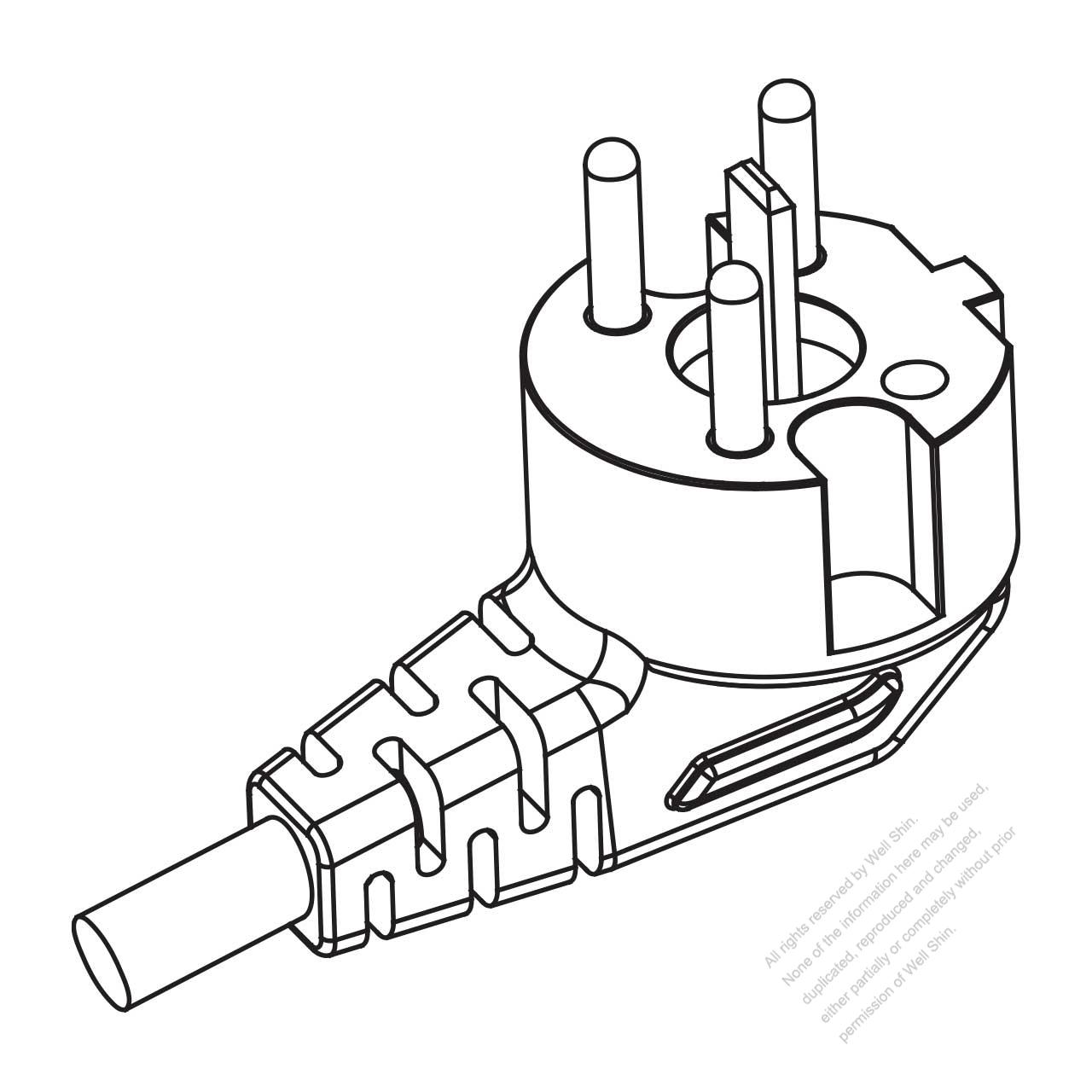 sweden 5 pin elbow ac plug 16a 230 400v well shin technology co 2 Pole Plug sweden 5 pin elbow ac plug 16a 230 400v