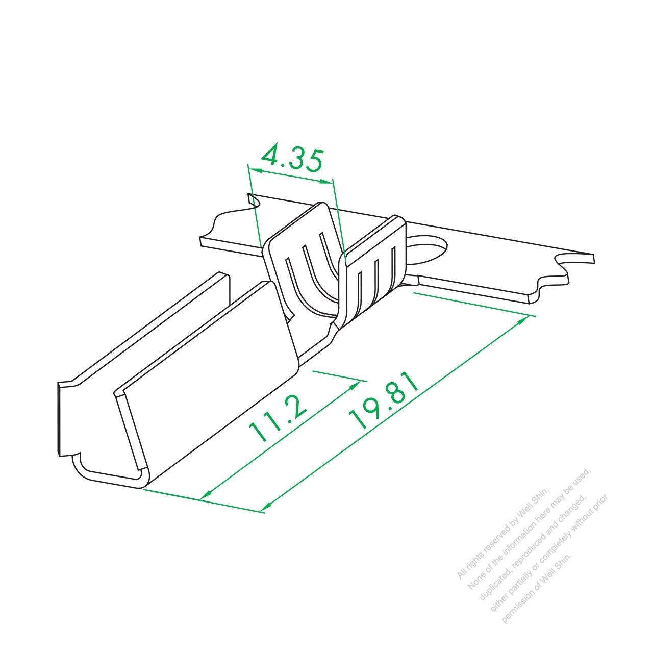 ws 002 serial 2x4u type terminal medium crimping well shin