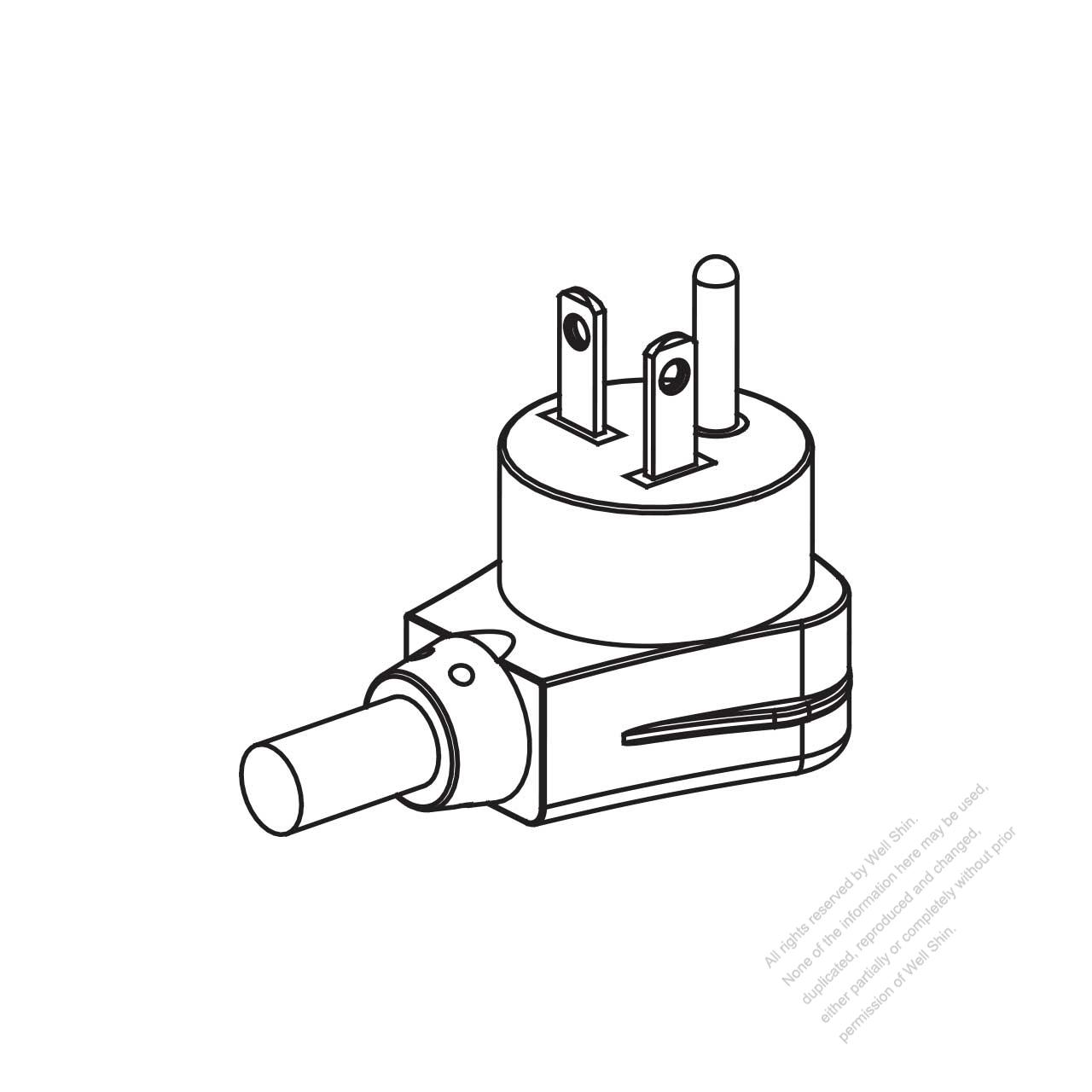 Usa Canada Nema 5 20p Elbow Ac Plug 2 P 3 Wire Grounding 20a 125v 20 Wiring Diagram
