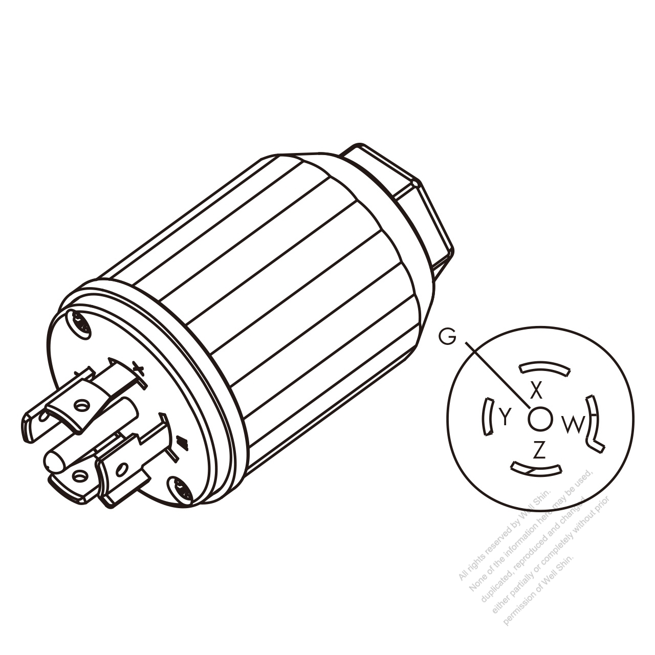B8656c56ac62ebec083kev usa canada twist lock (nema l21 20p) 5 pin straight plug, 4 p, 5 l21-20r wiring diagram at edmiracle.co