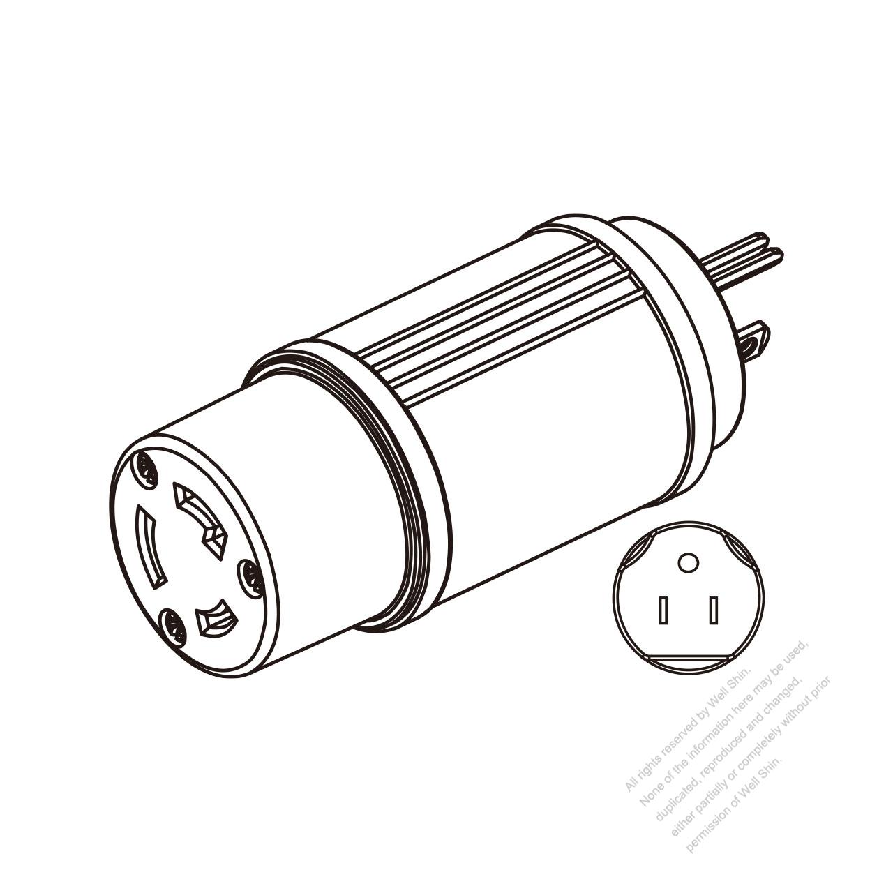 adapter plug  nema 5