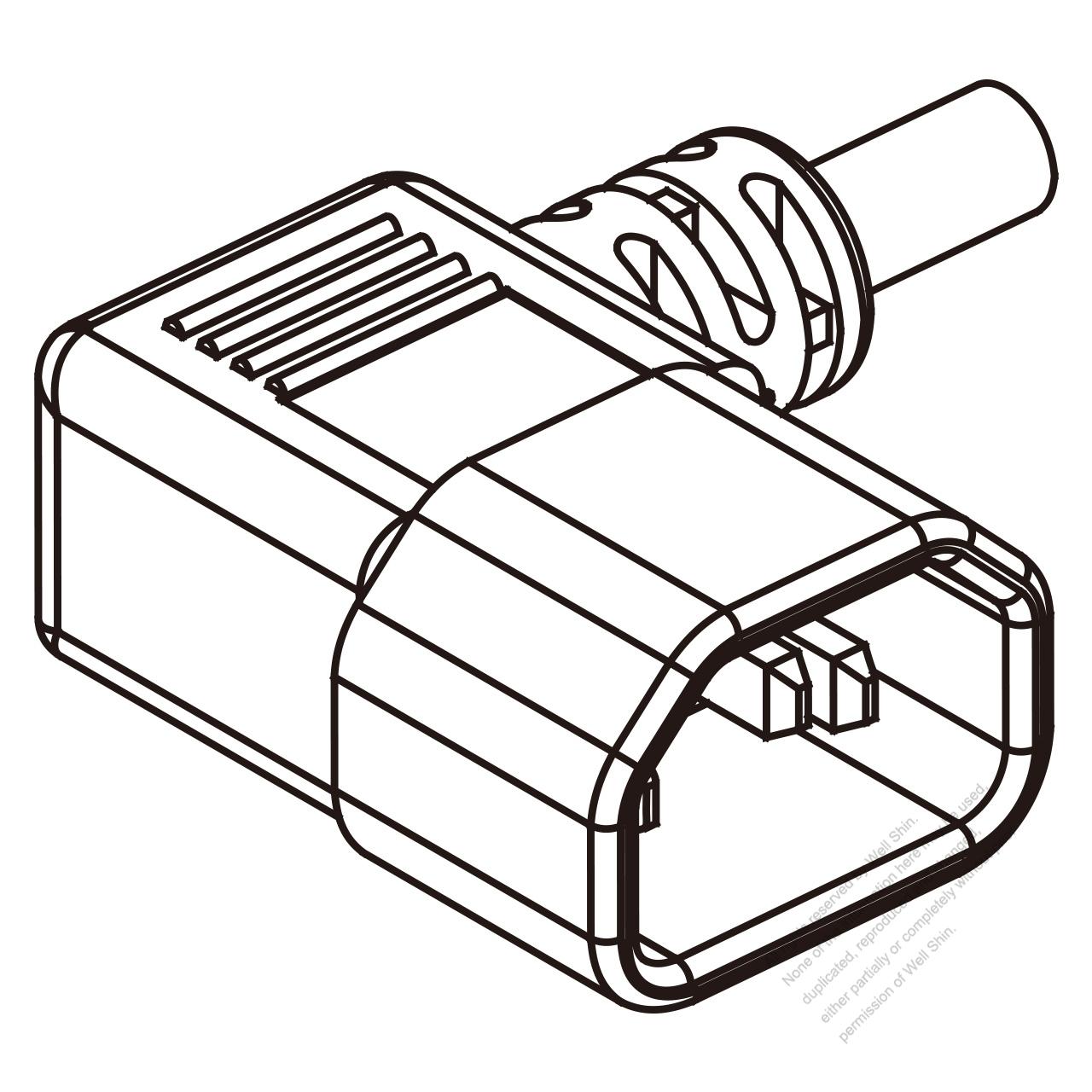 iec 320 sheet e  c14  plug connectors 3 13a