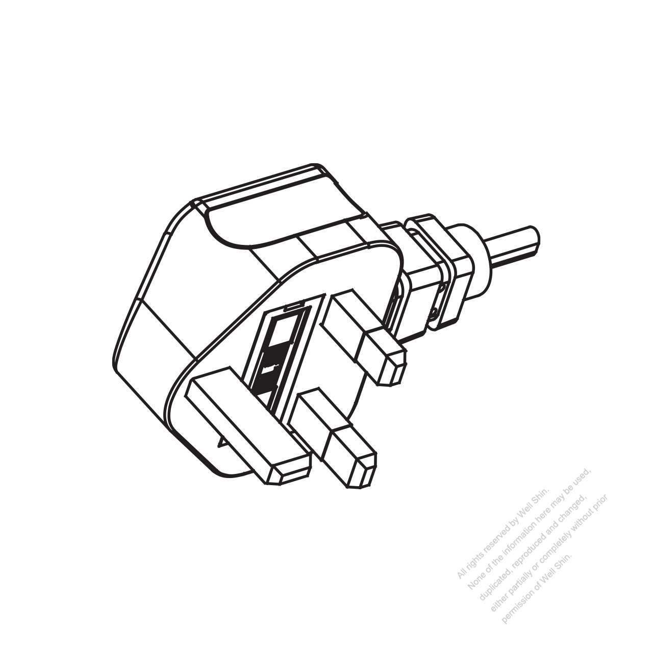 uk 3-pin ac plug  6a 10a 13a 250v