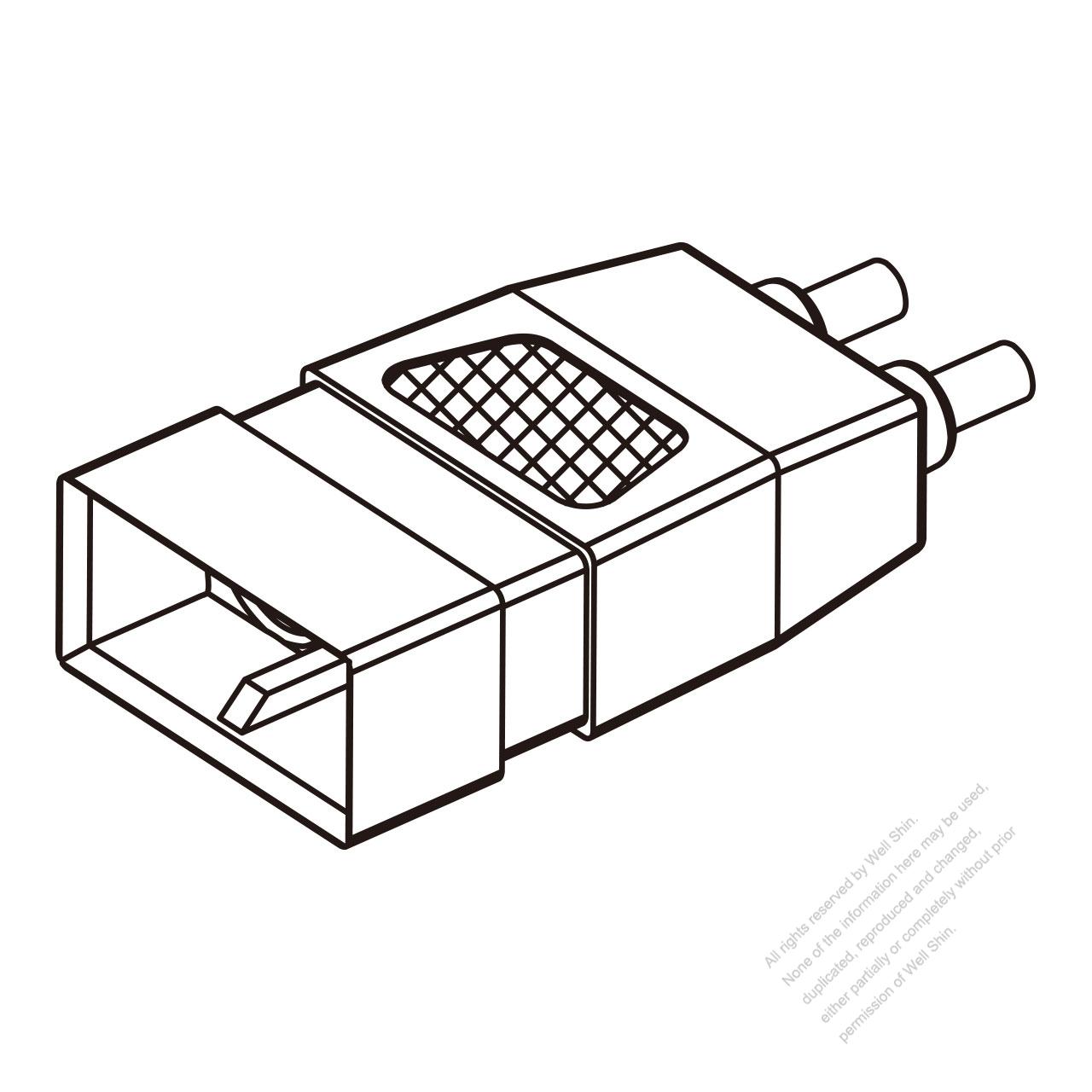 45a  2-pin connector