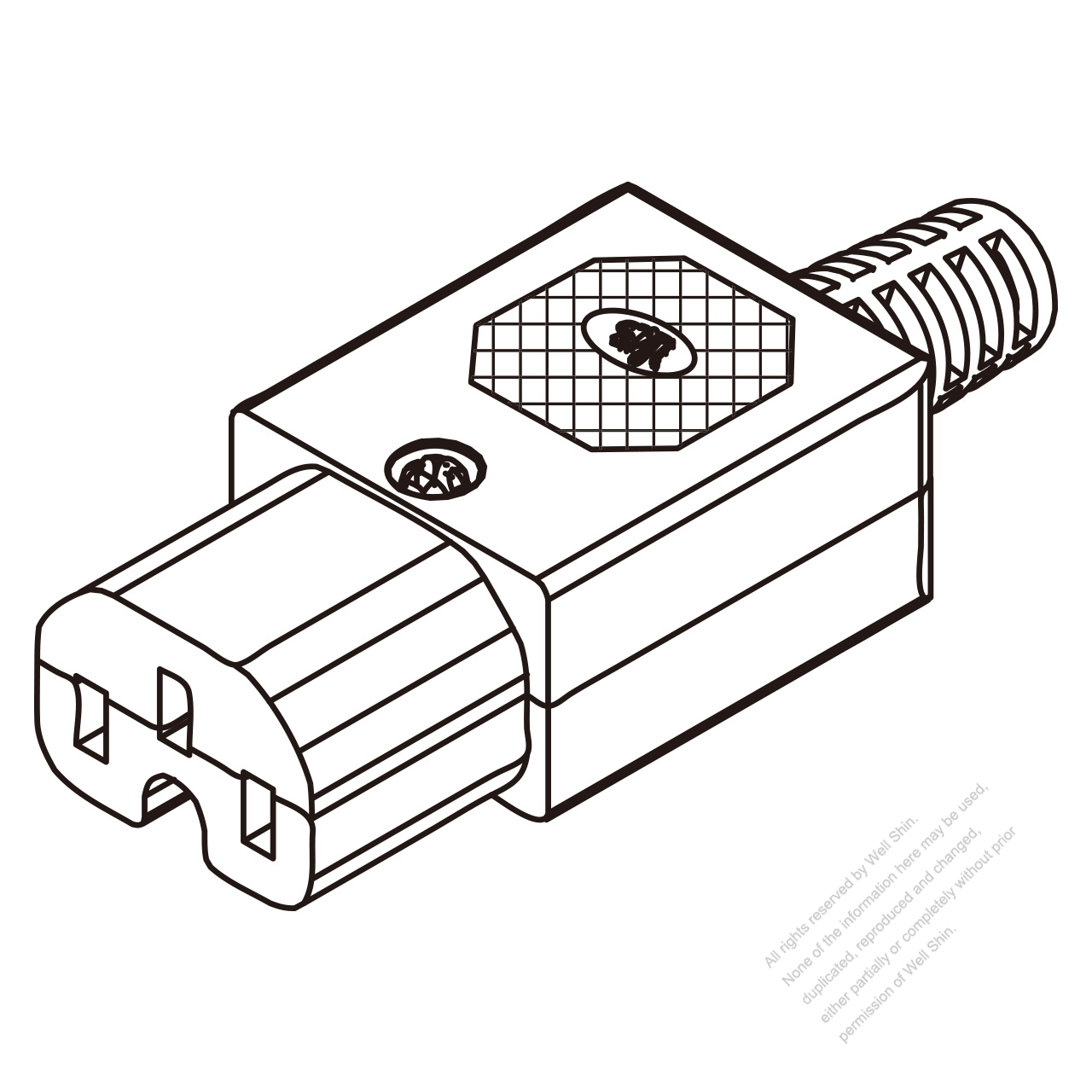 iec 320 c15 connector 3-pin 10a international  15a north american household