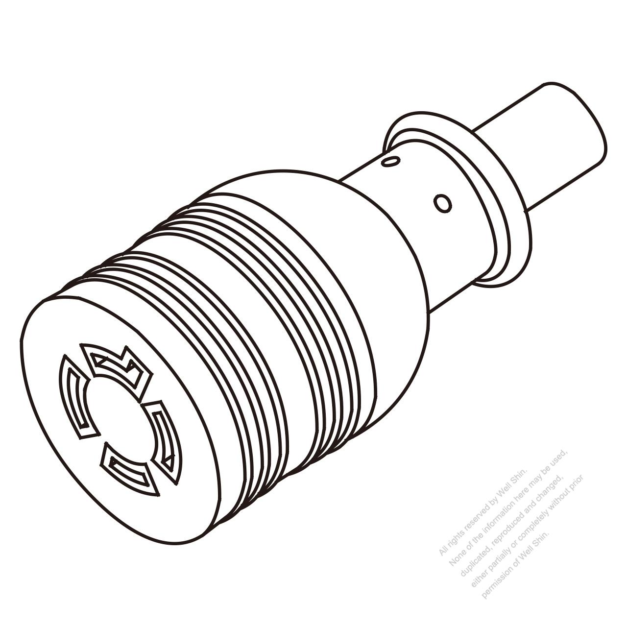 usa  canada twist locking  l14
