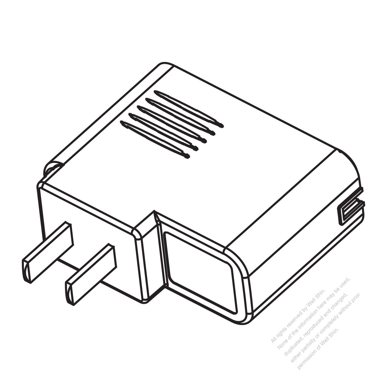 ac  dc china charger case  2 pin plug