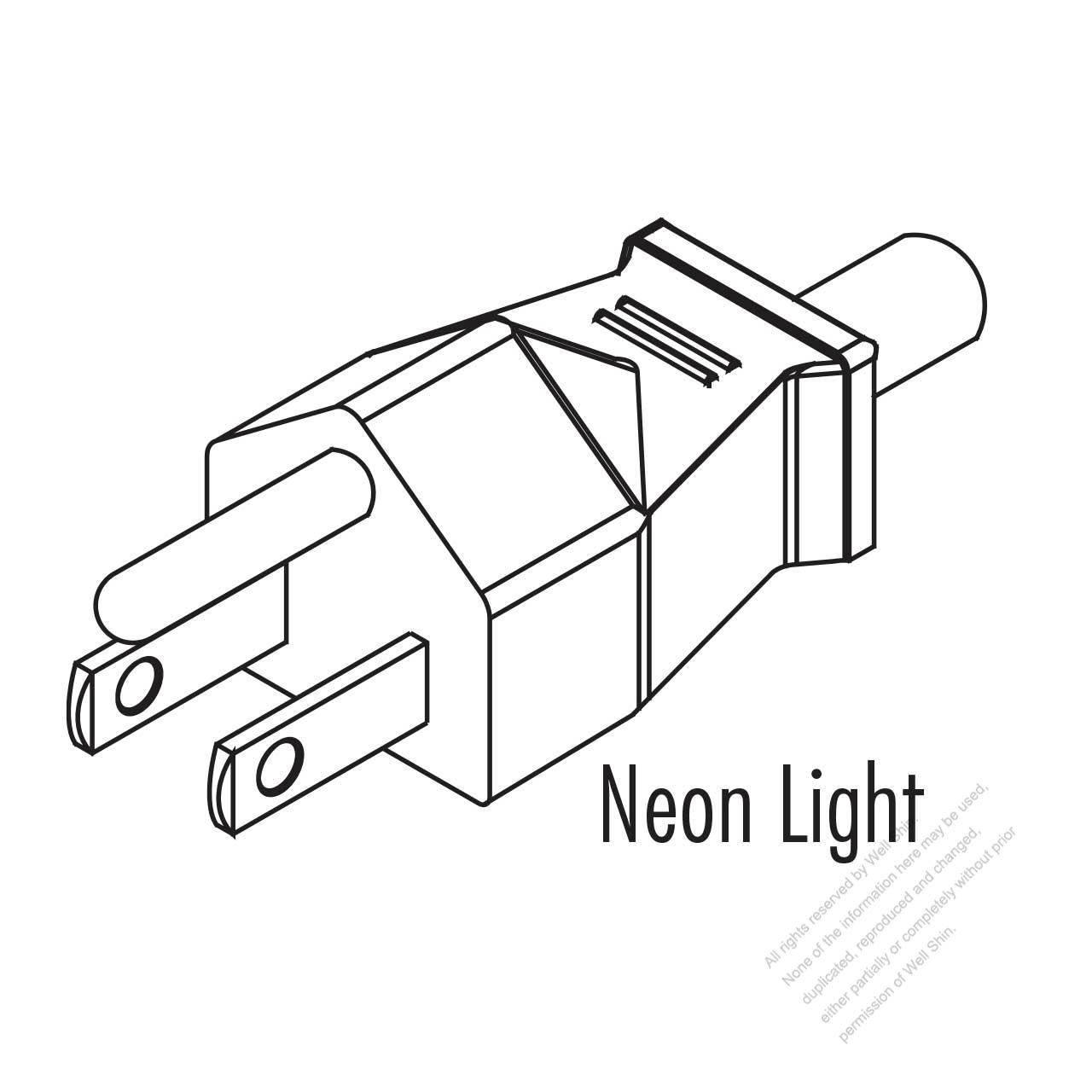 usa  canada nema 5-15p straight ac plug  2 p   3 wire grounding 15a 125v