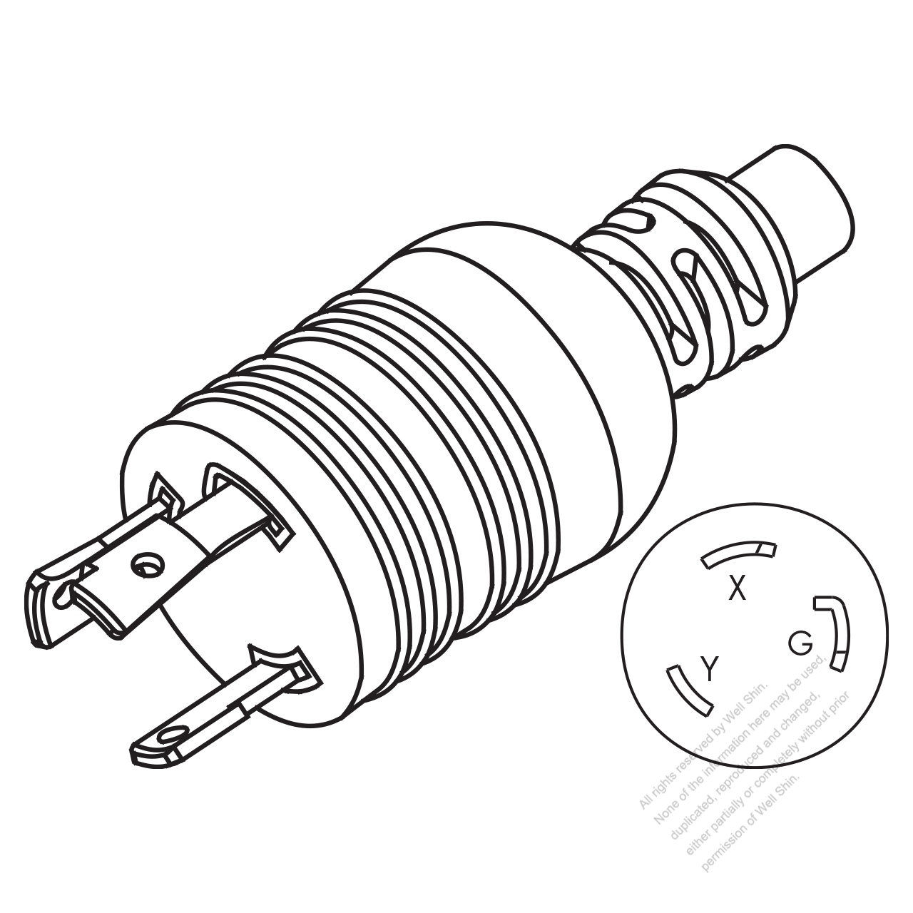 Bbe71656ac26322c10dzz8 3 wire replacement male electrical plug 8 on 3 wire replacement male electrical plug