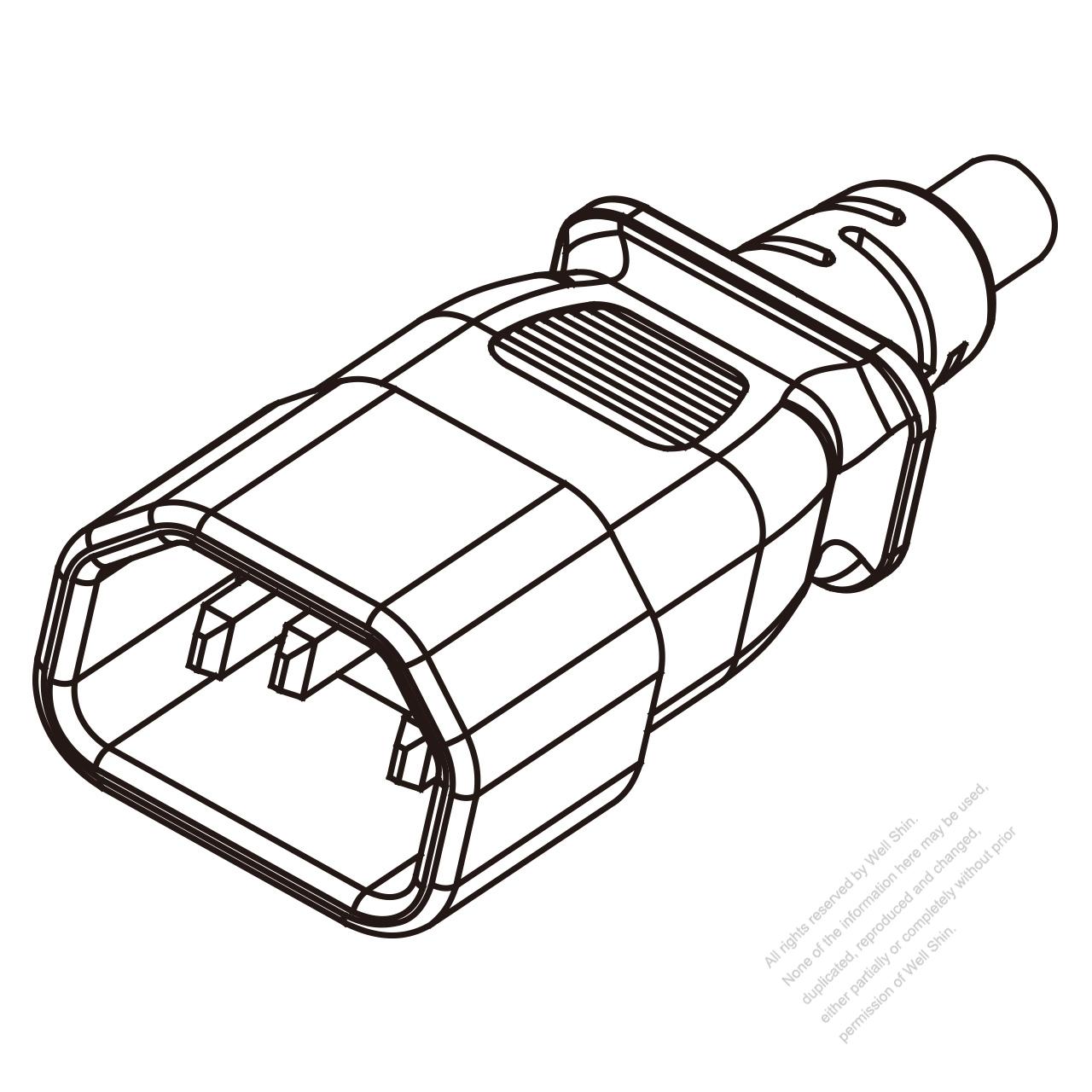iec 320 sheet e  c14  plug connectors 3