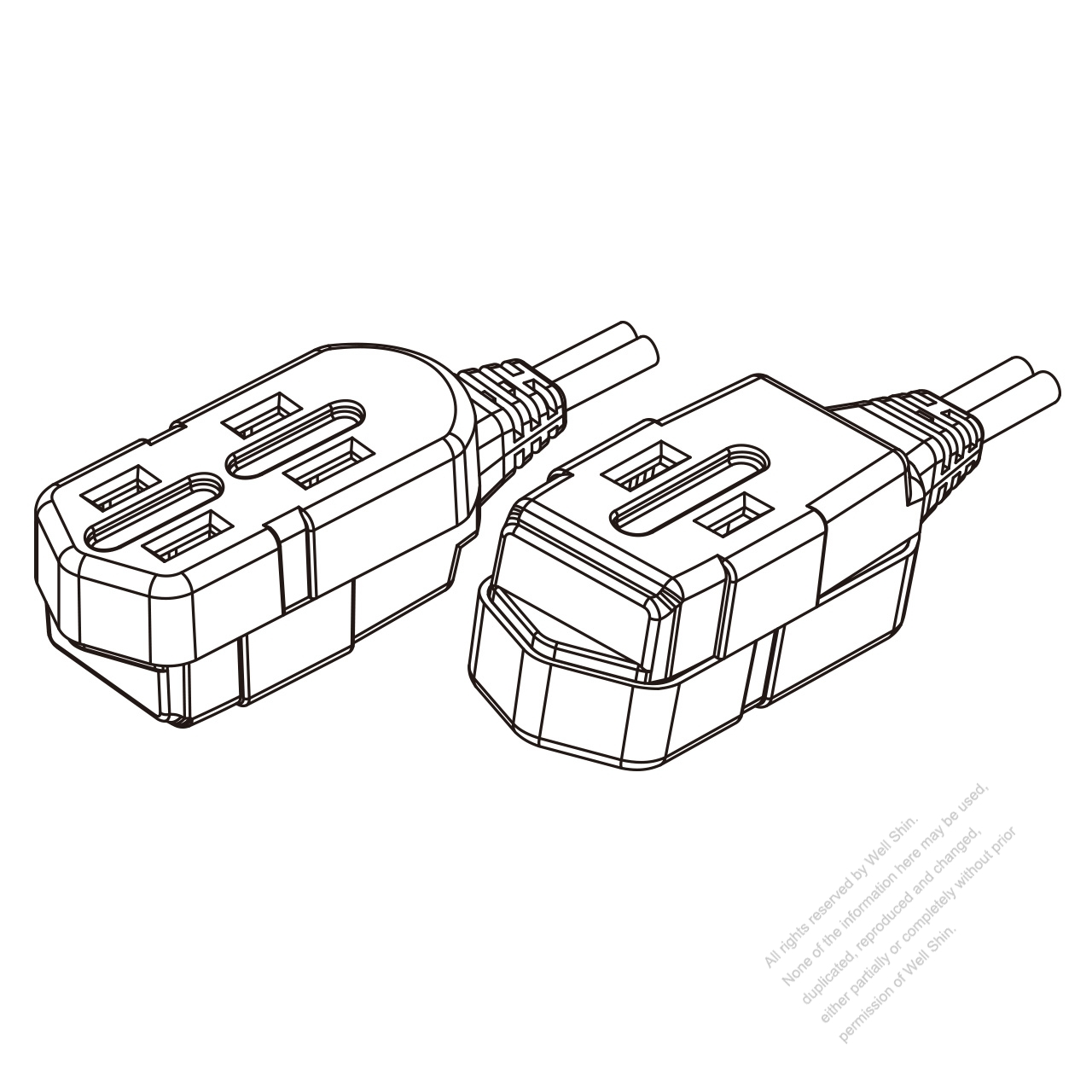 usa canada multi outlet ac connector nema 1 15r straight blade 3 White Electrical Outlet usa canada multi outlet ac connector nema 1 15r straight blade