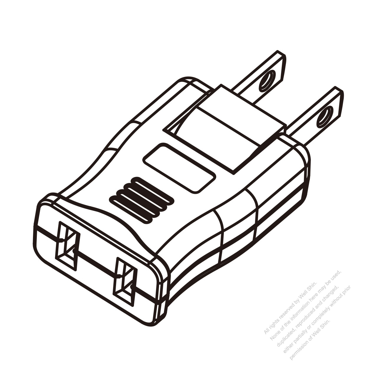 adapter plug  us nema 1