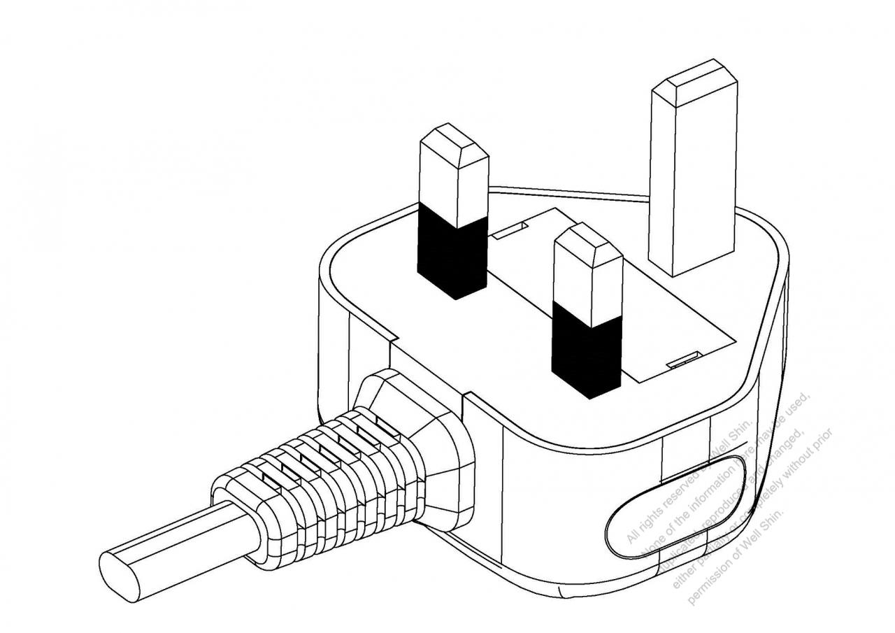 uk 3 pin ac plug 6a 250v well shin technology co ltd AC Plug Wiring Diagram uk 3 pin ac plug 6a 250v