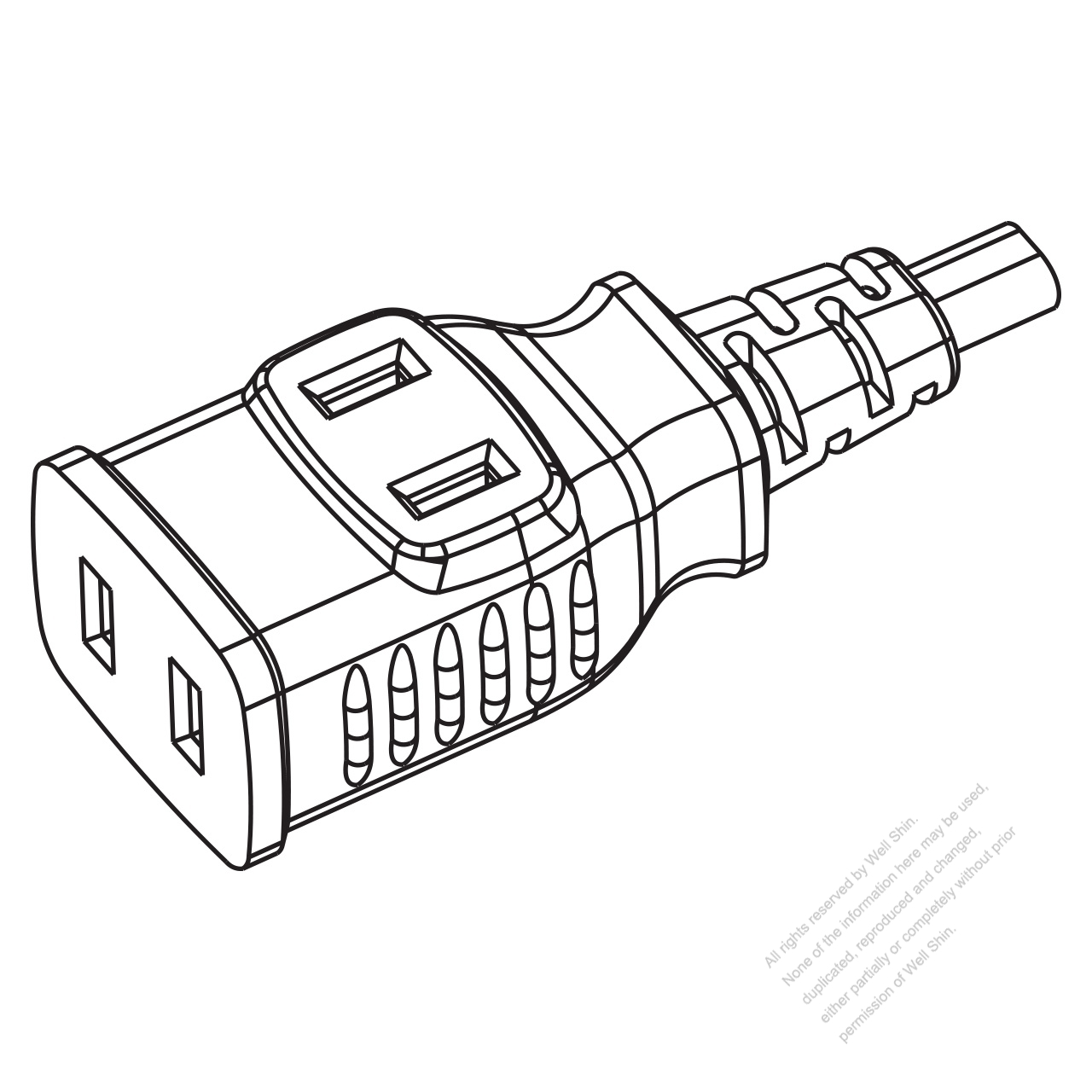 usa canada multi outlet ac connector nema 1 15r straight blade 3 Multiple Electric Plug Outlets usa canada multi outlet ac connector nema 1 15r straight blade