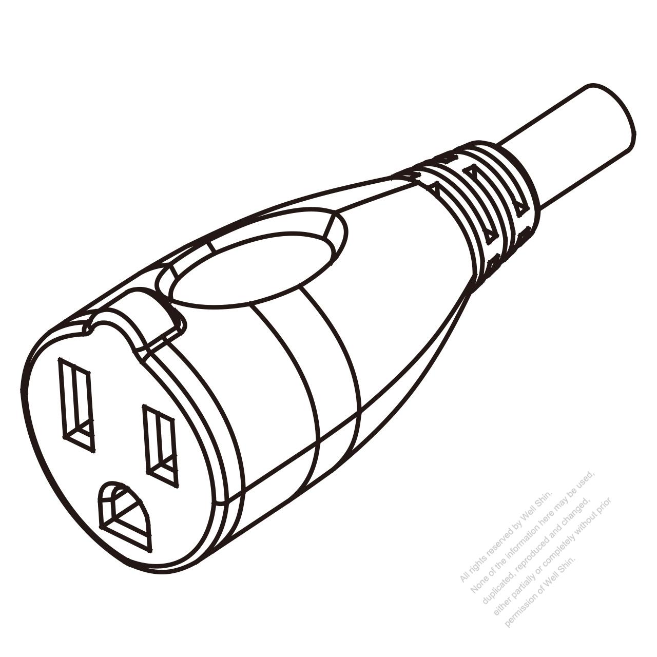 usa  canada ac connector 3