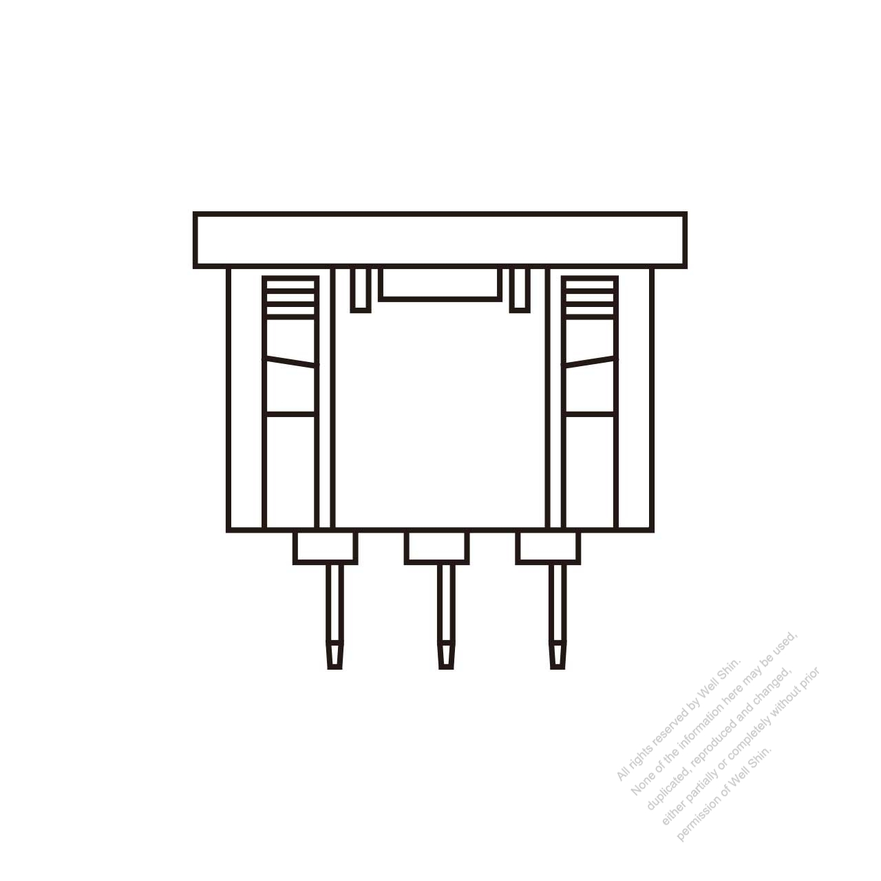 Iec 60320 1 C16 Appliance Inlet 10a 15a Well Shin Technology Co Receptacle Wiring Diagram