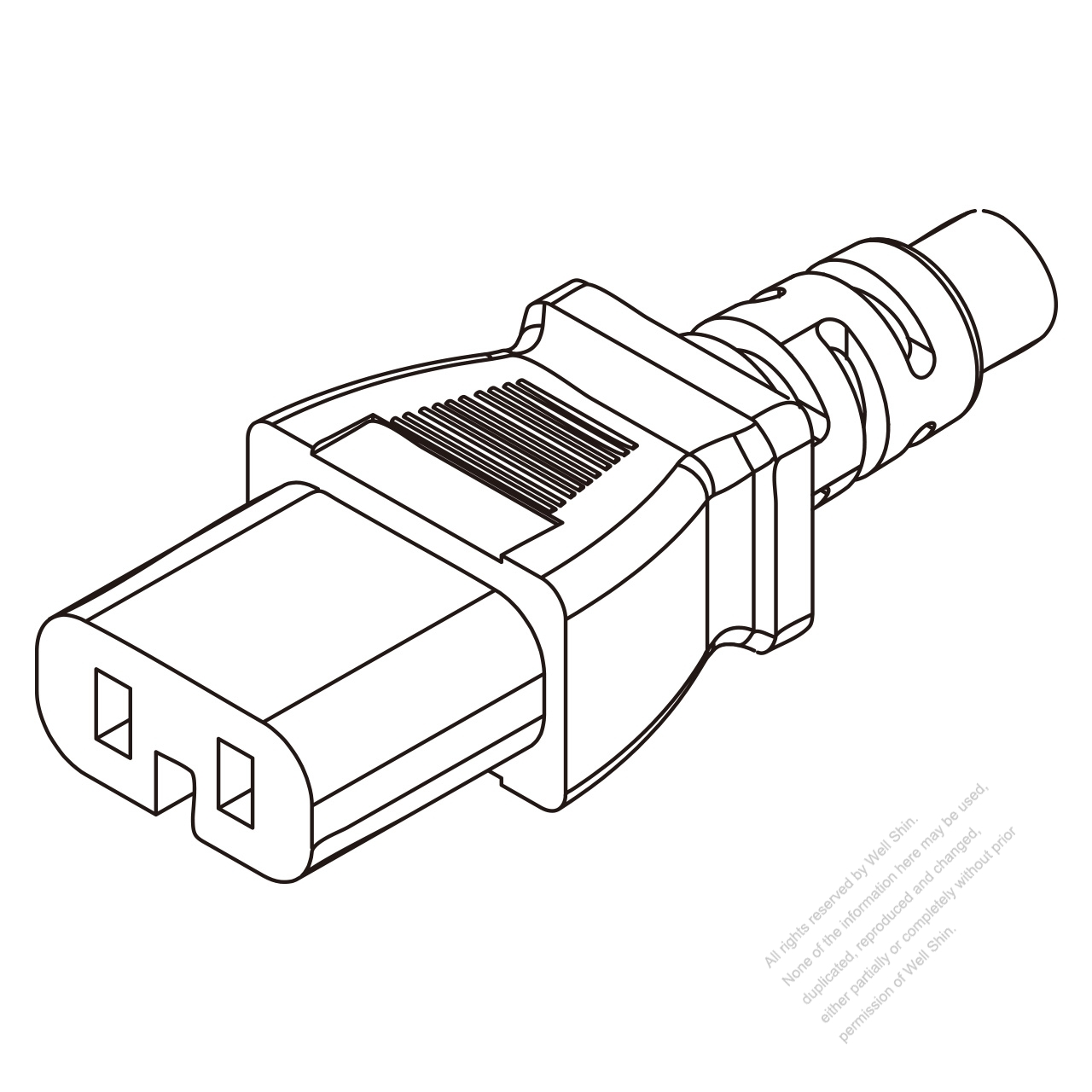 IEC 320 C11 Connectors 3-Pin Straight 10A 250V - Well Shin ...