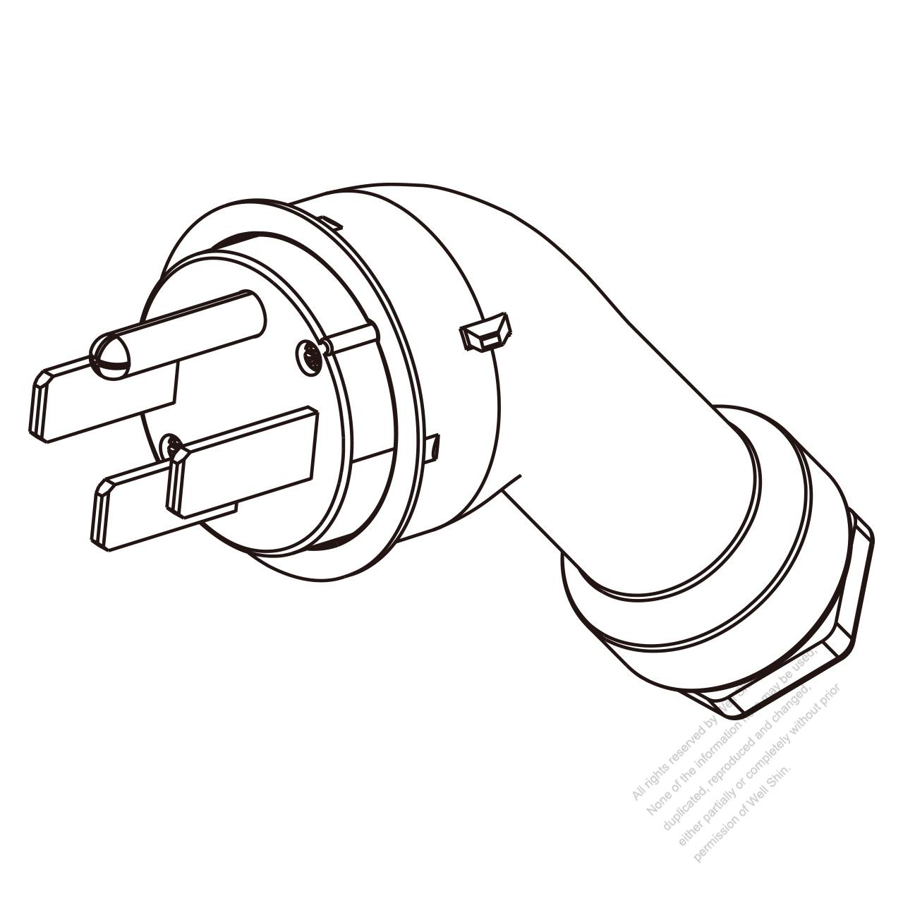 Usa Canada Rv Plug Nema 14 50p 4 Pin Straight 3 P Wire How To