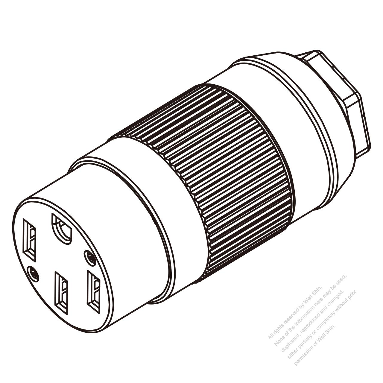 Nema 14 50r >> Usa Canada Connector Nema 14 50r 4 Pin 3 P 4 Wire Grounding50a