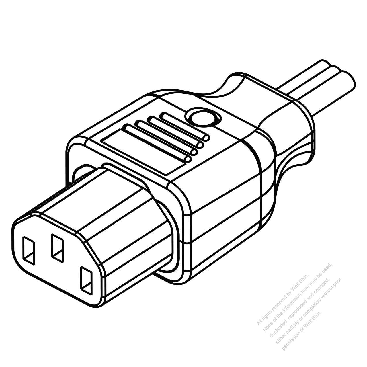 IEC 320 C13 Connectors 3-Pin Straight 10A 125/250V - Well ... Iec Wiring Diagram on