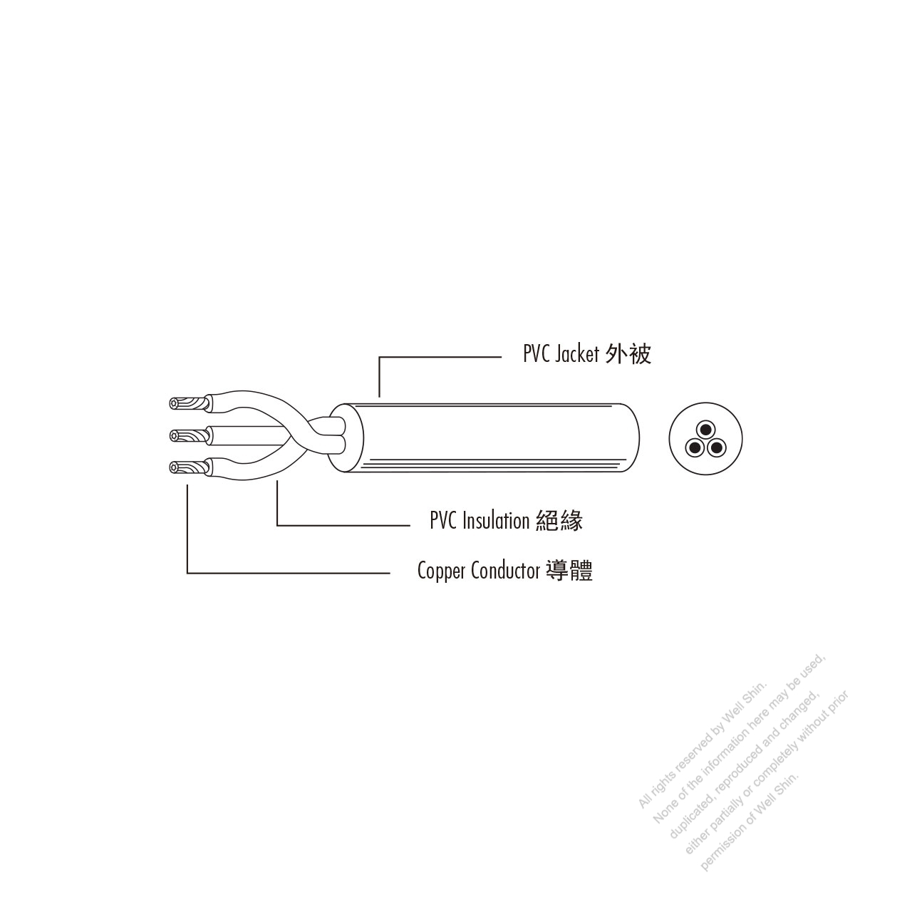 China Type Ac Power Pvc Wire 227 Iec 53 Rvv 300 500 Well Shin Cb50 Wiring Diagram