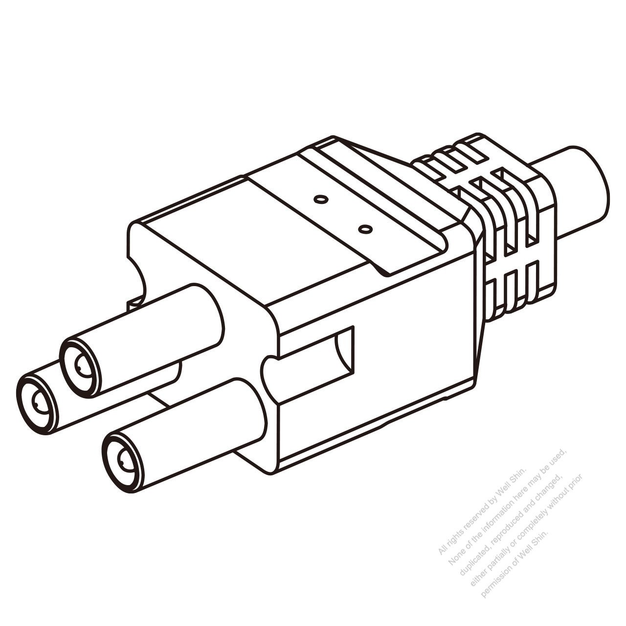 25a  3-pin plug connector
