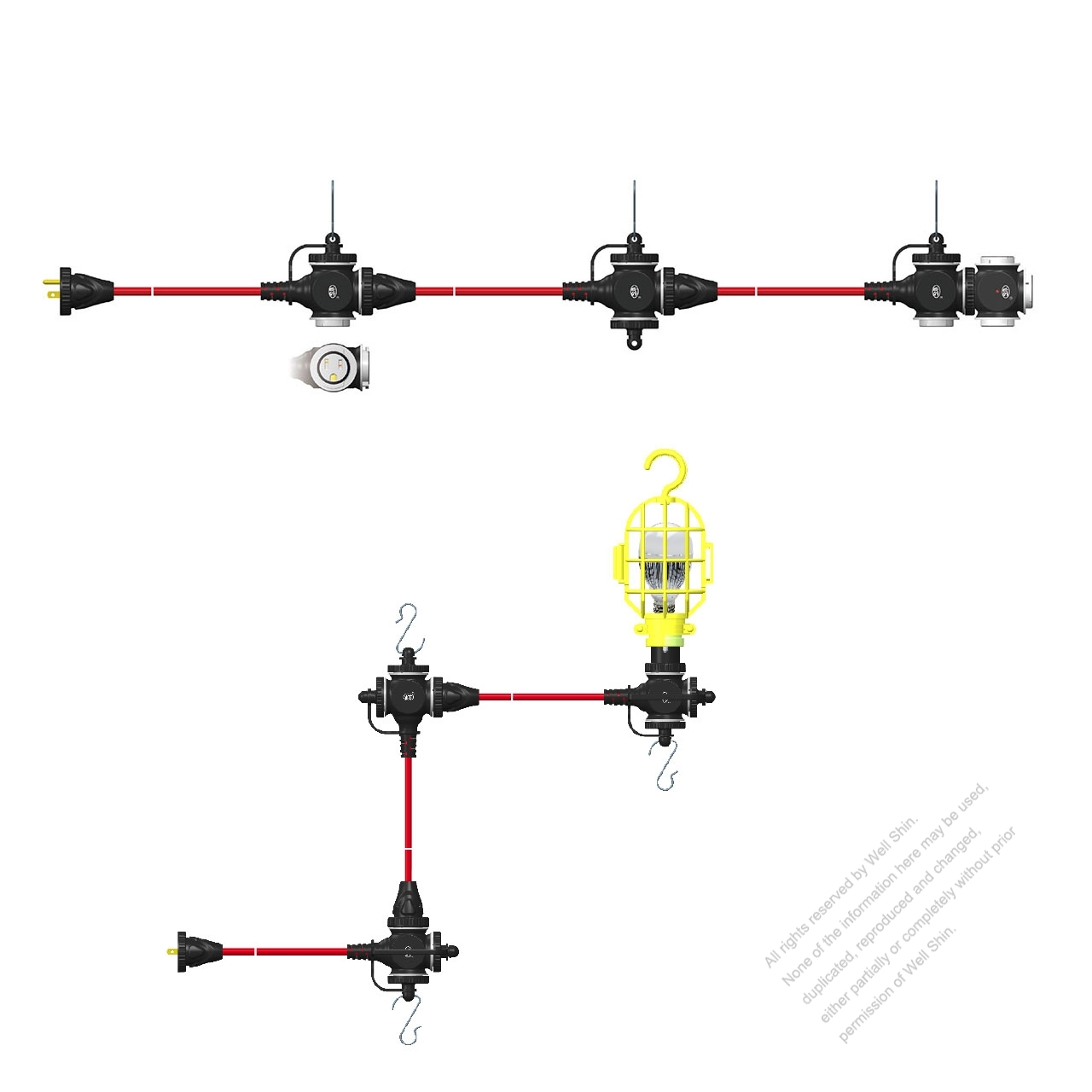 japan 2 pin locking cord nema 1 1