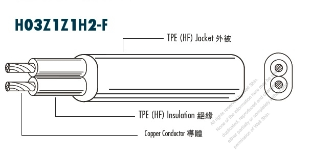 Ac Voltage Wire Identifier Tool : European type ac power hf halogen free cable h z f