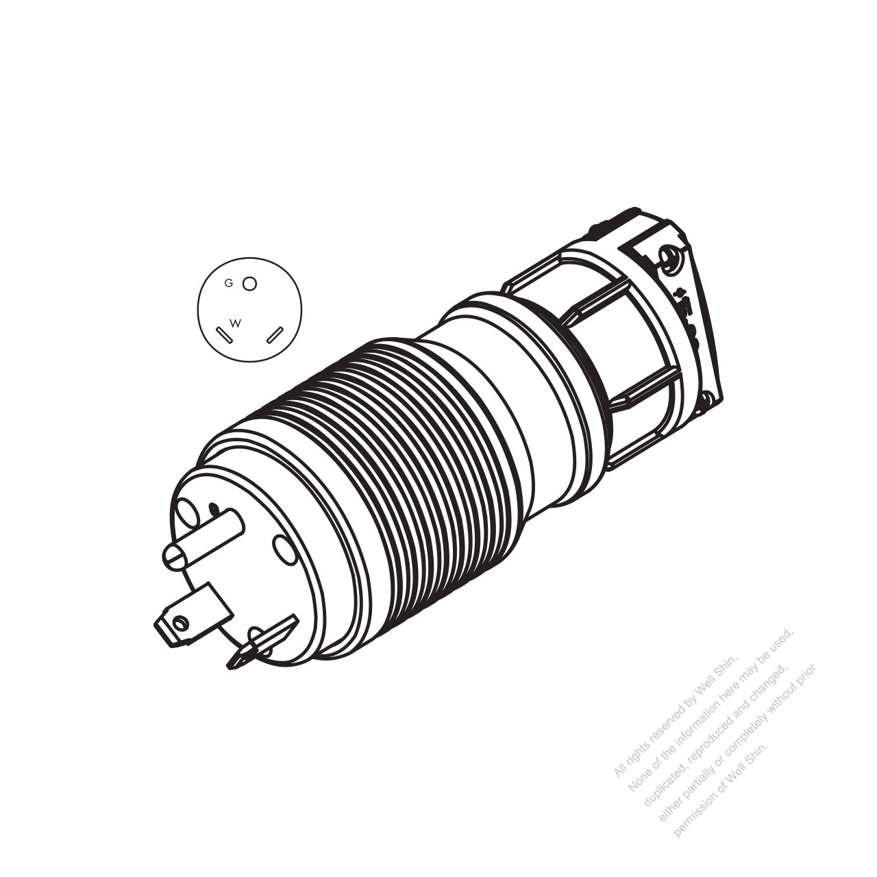 How To Wire A 120v Plug as well 50   Rv Outlet Diagram further Wiring Diagram For 30   125 Volt Rv Receptacle as well Nema L6 30r Wiring Diagram moreover  on wiring diagram for 30 amp 125 volt rv receptacle